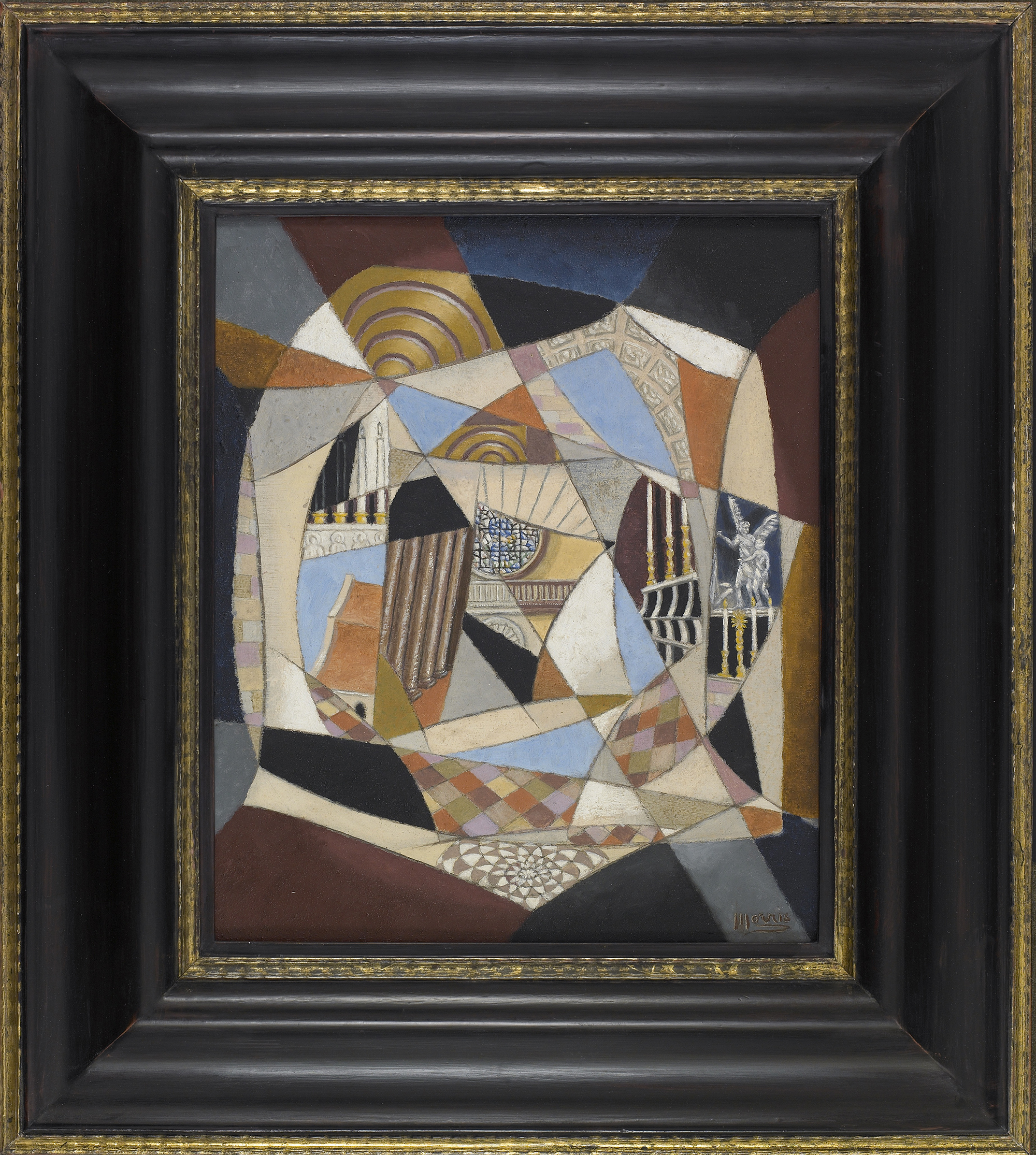 SOLD  Santo Spirito,   Oil on canvas, 1951, 13 1/2 x 11 1/2 inches