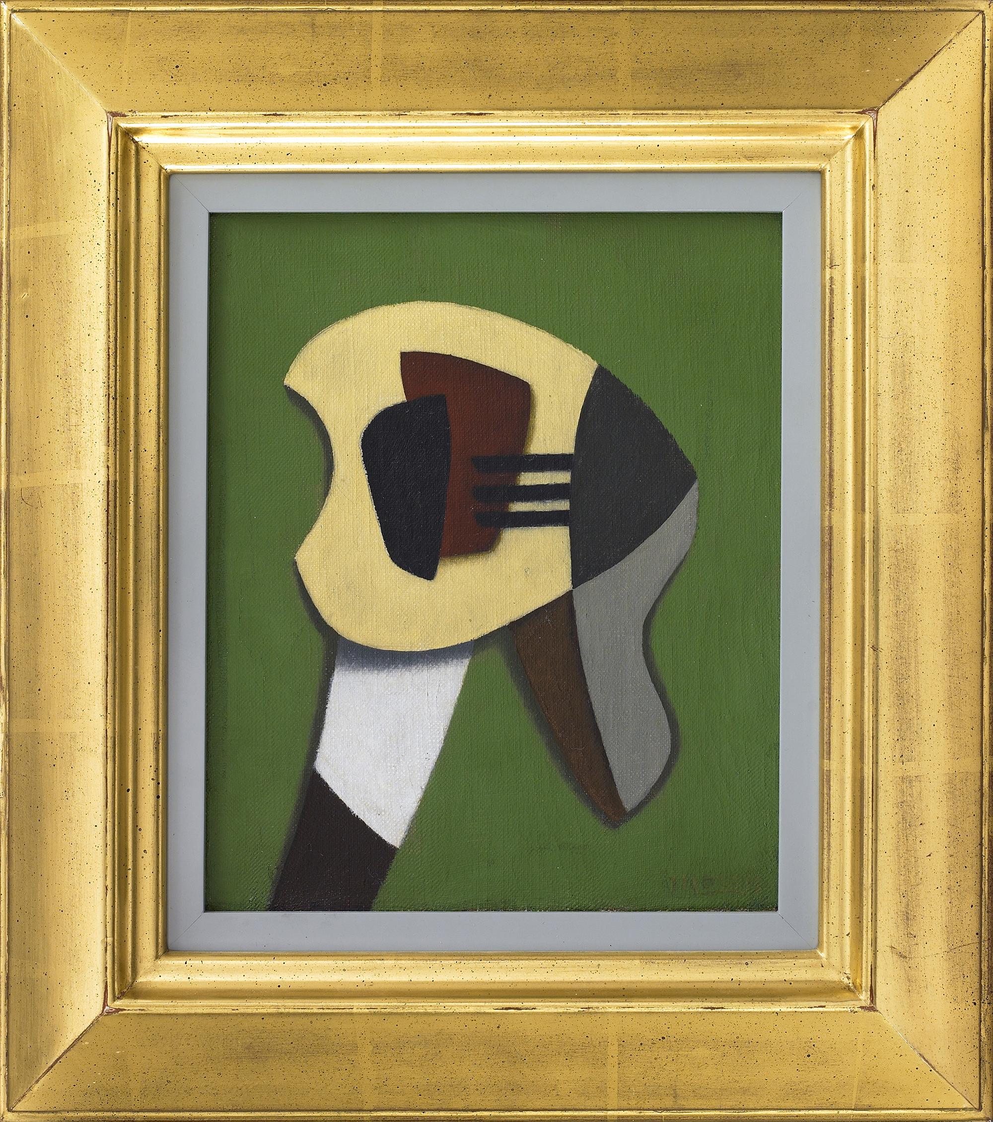 SOLD  Suspension,   Oil on canvas, 1937, 9 ¼ x 7 ¾ inches
