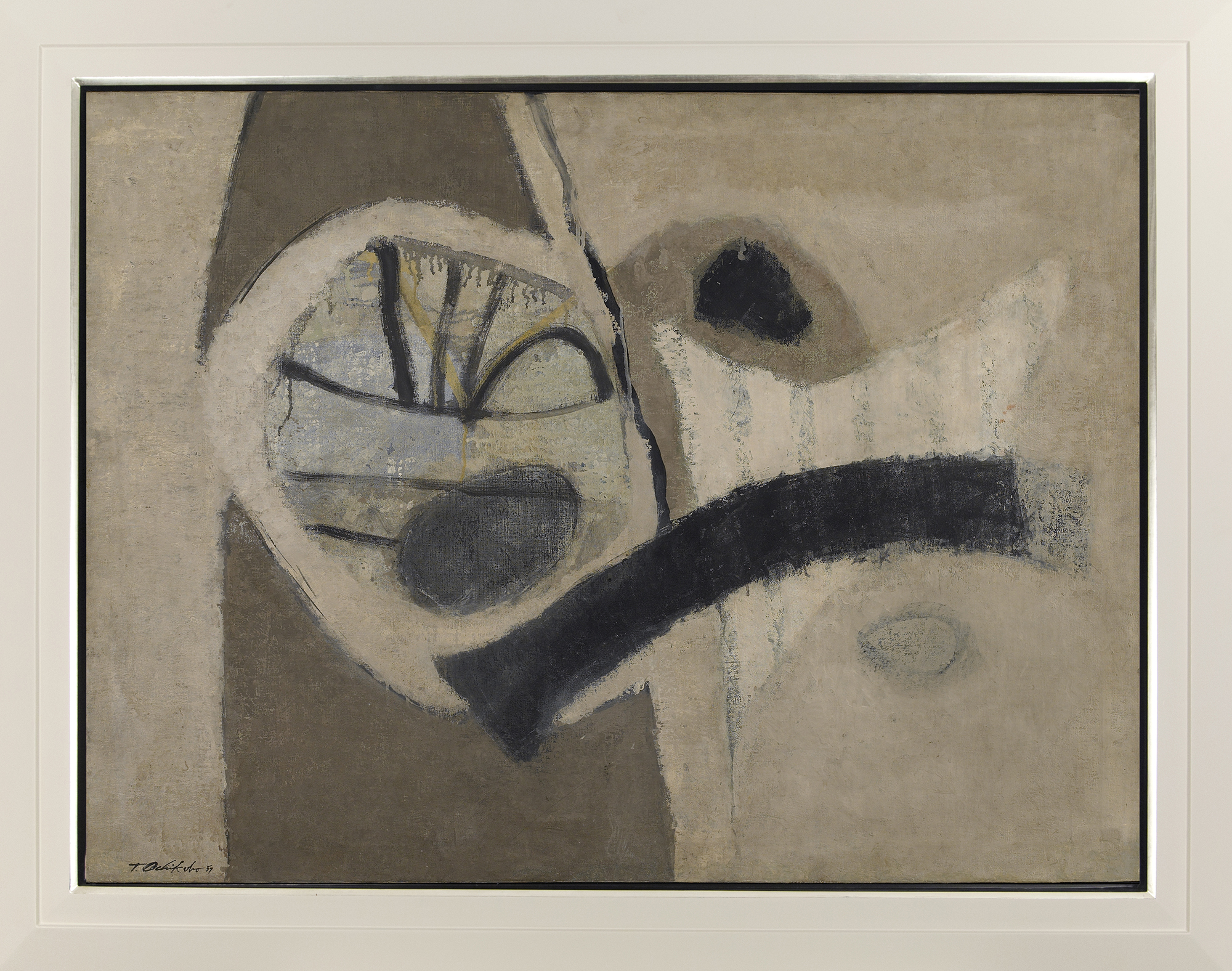 Uninitiate,   Oil on canvas, c. 1950s, 31 x 40 inches, 39 x 49 inches framed
