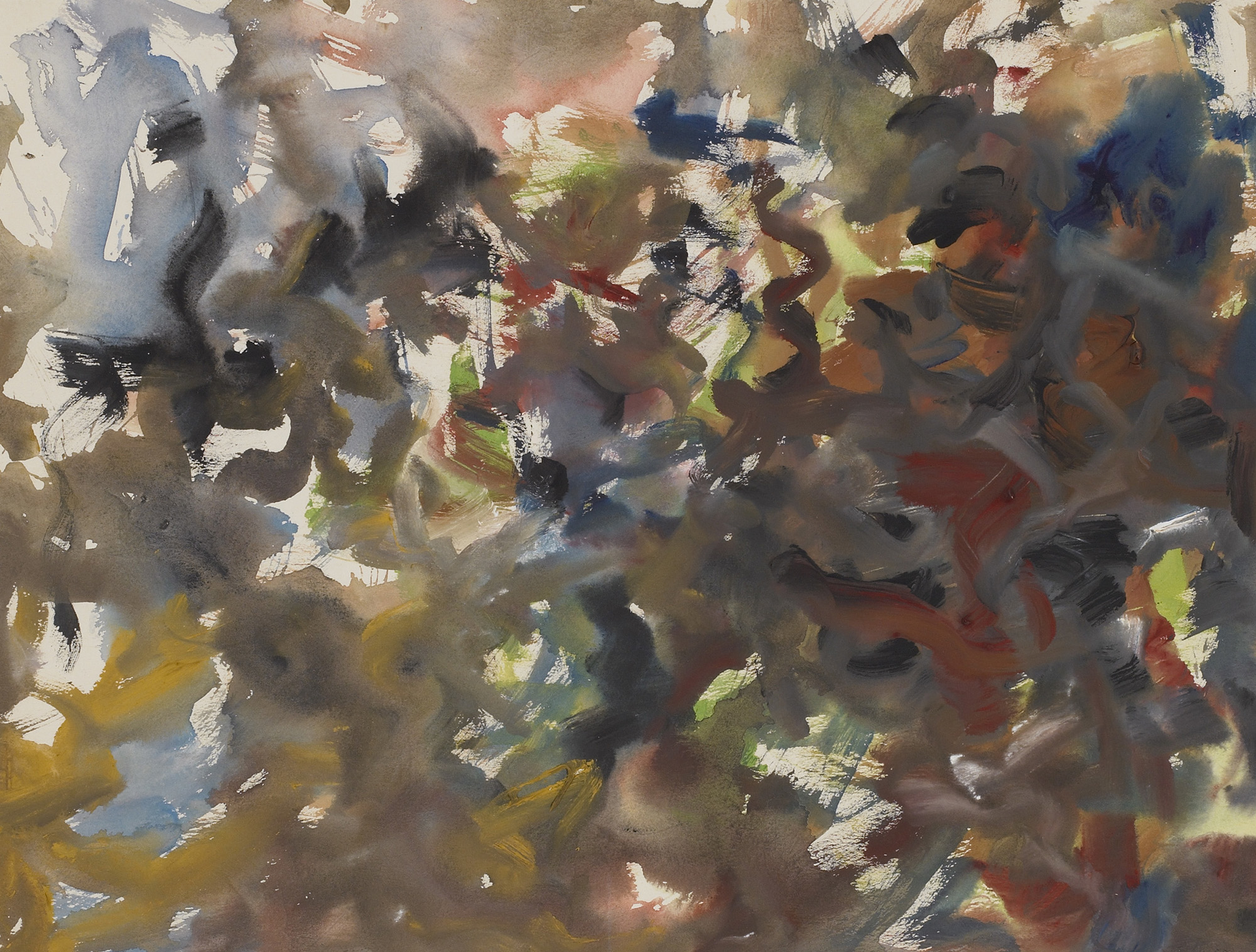 Untitled #1, 1955  , gouache on paper, 18 1/2 x 23 1/2 inches