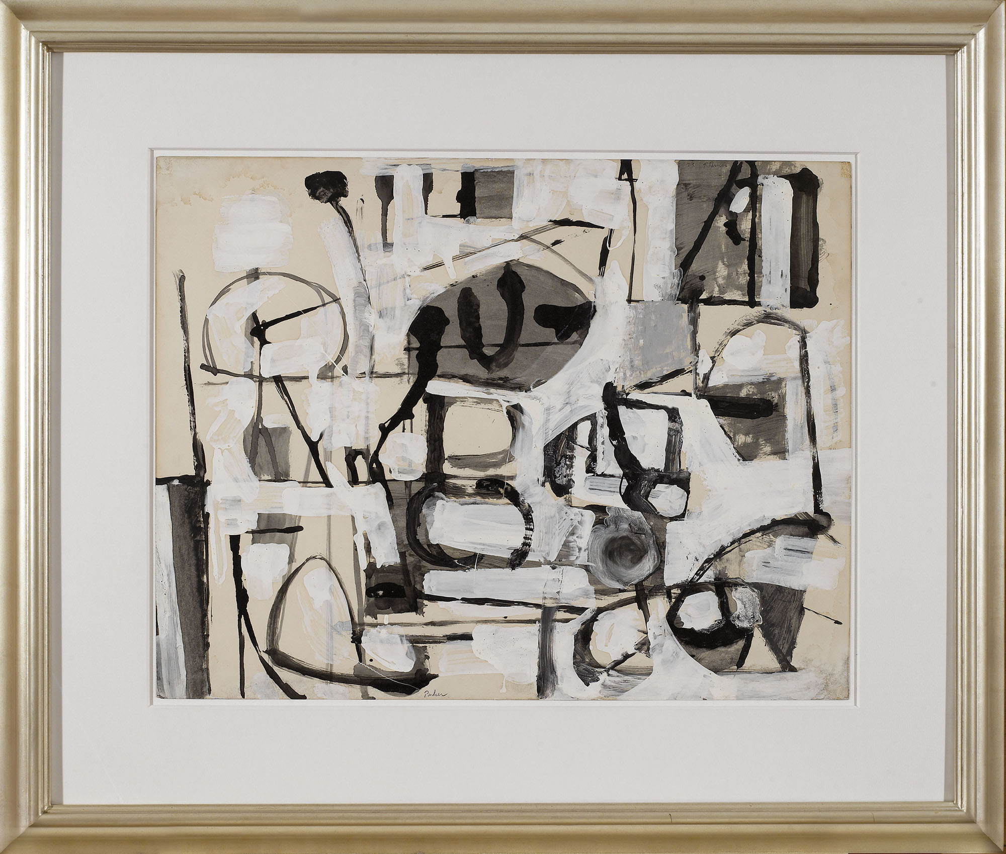 SOLD  Untitled, 1951  , ink and gouache on paper, 28 x 41 inches