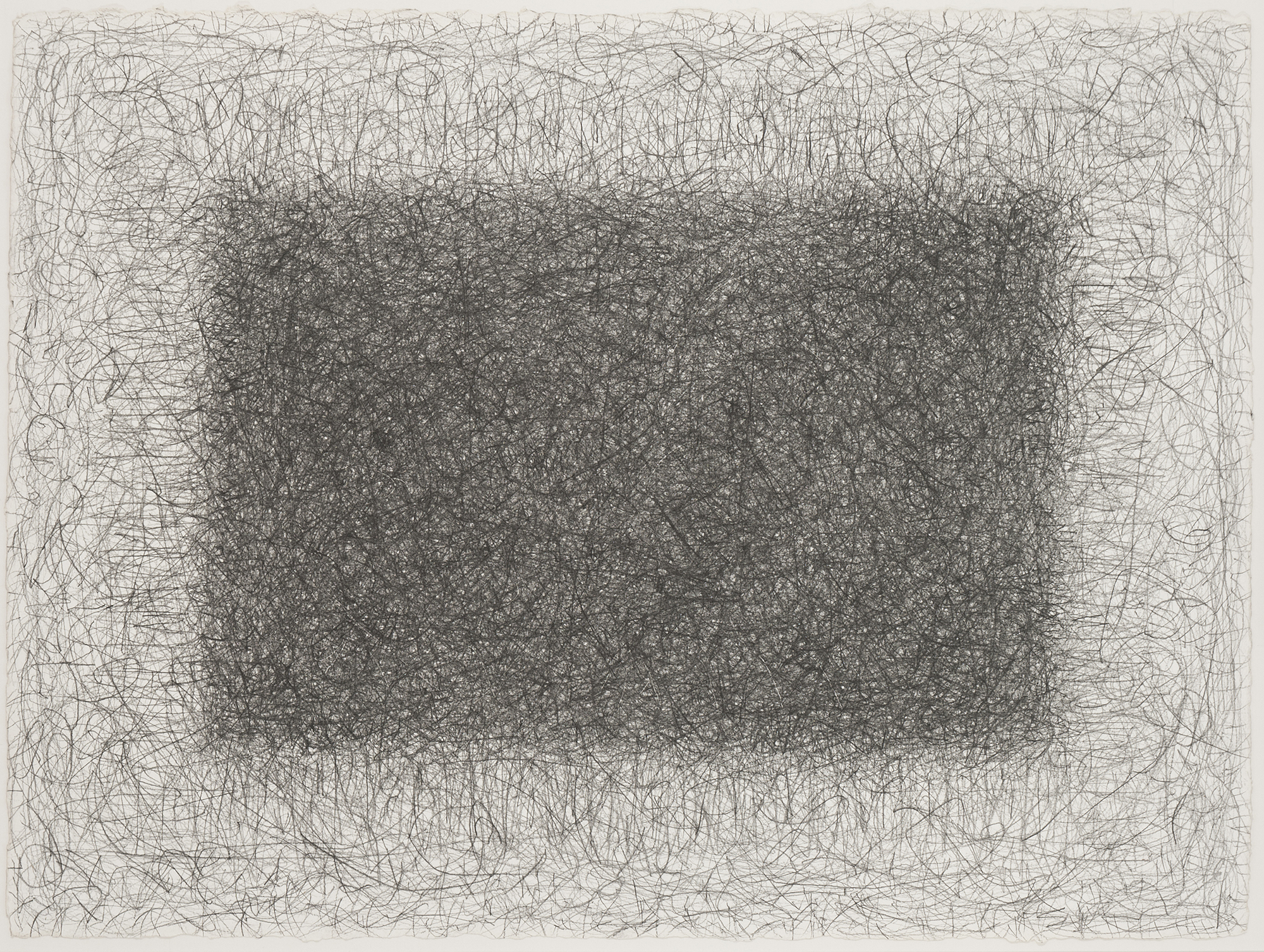 SOLD  Untitled, 1977  , graphite on heavy Arches paper, 22 1/2 x 30 3/8 inches