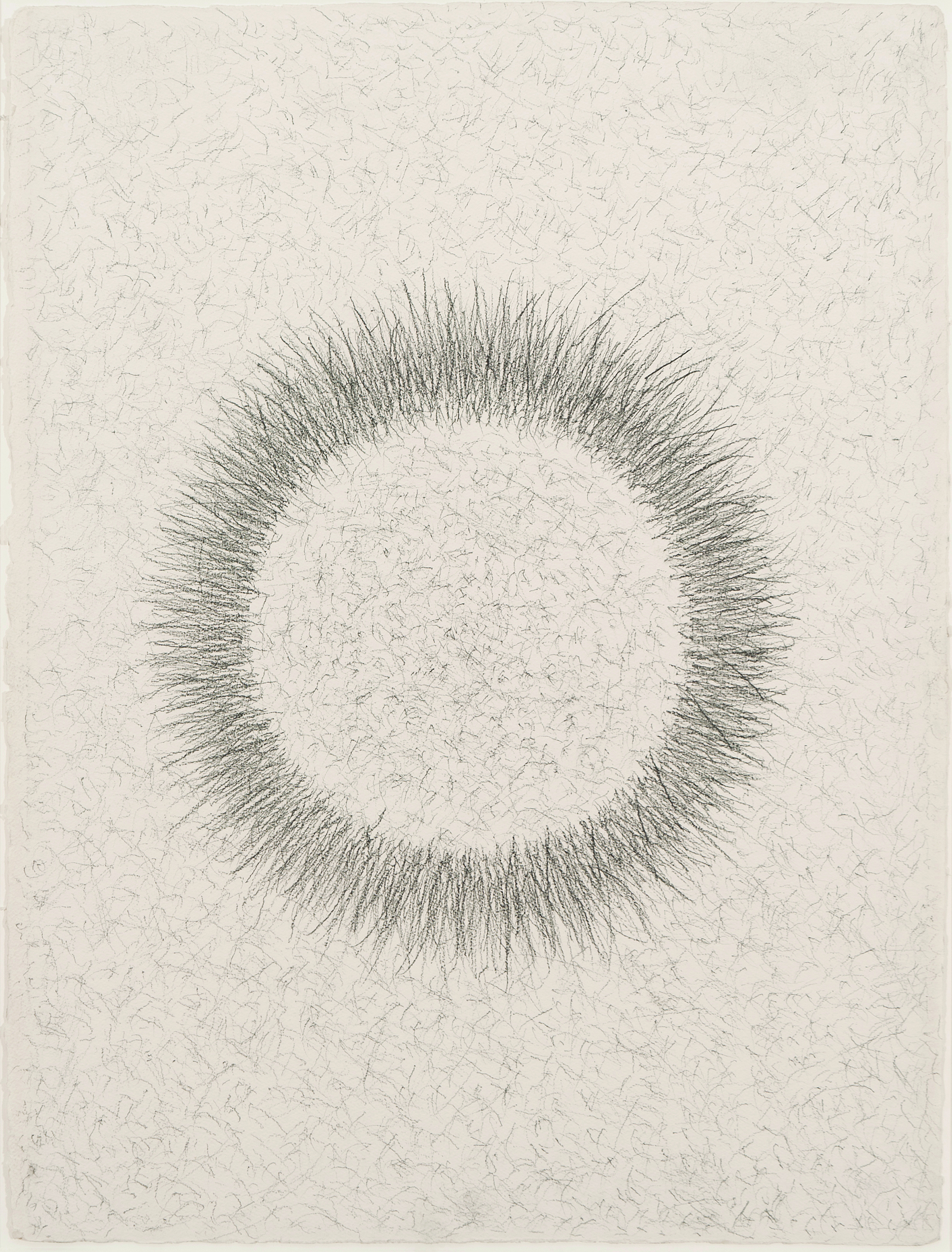 SOLD Untitled (Equinox), 1976  , graphite on Arches paper, 29 3/4 x 22 1/2 inches