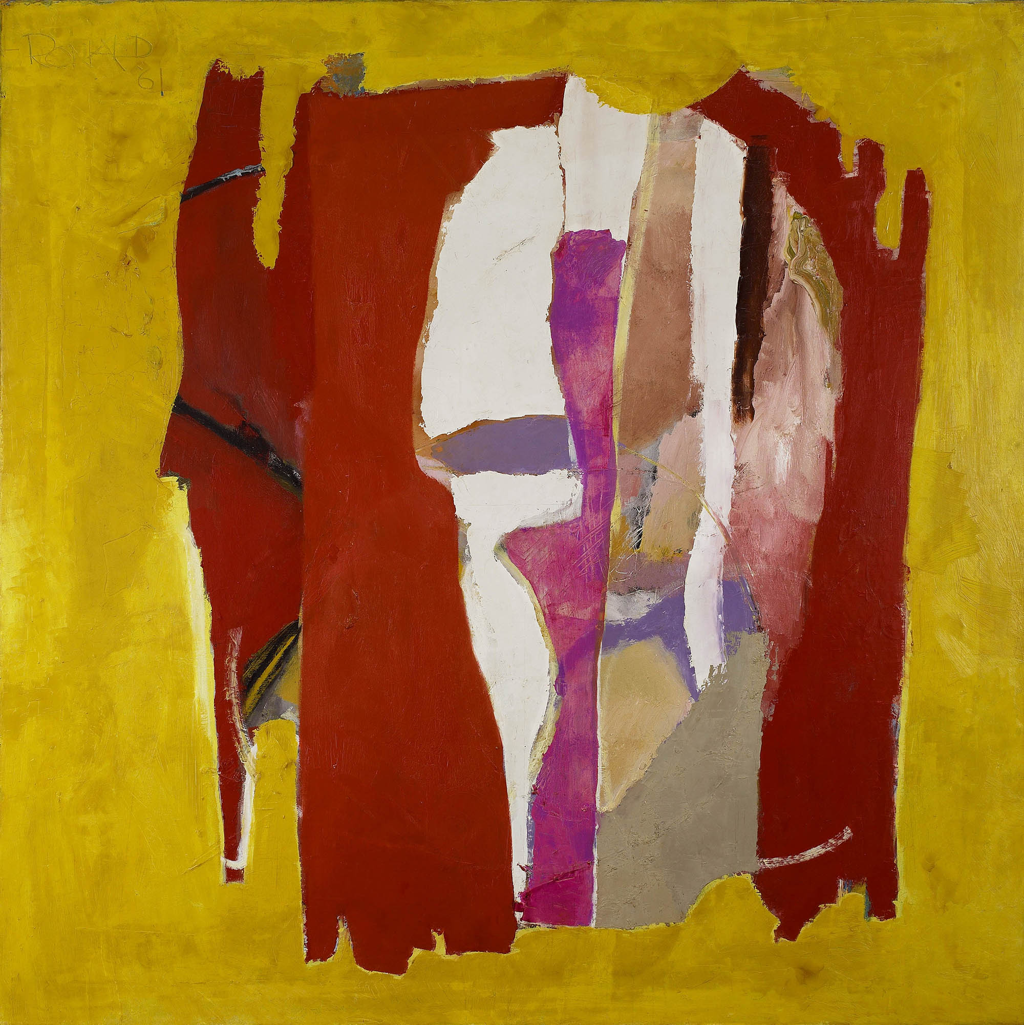 Seer, 1960-61  , oil on canvas, 68 3/4 x 68 3/4 inches