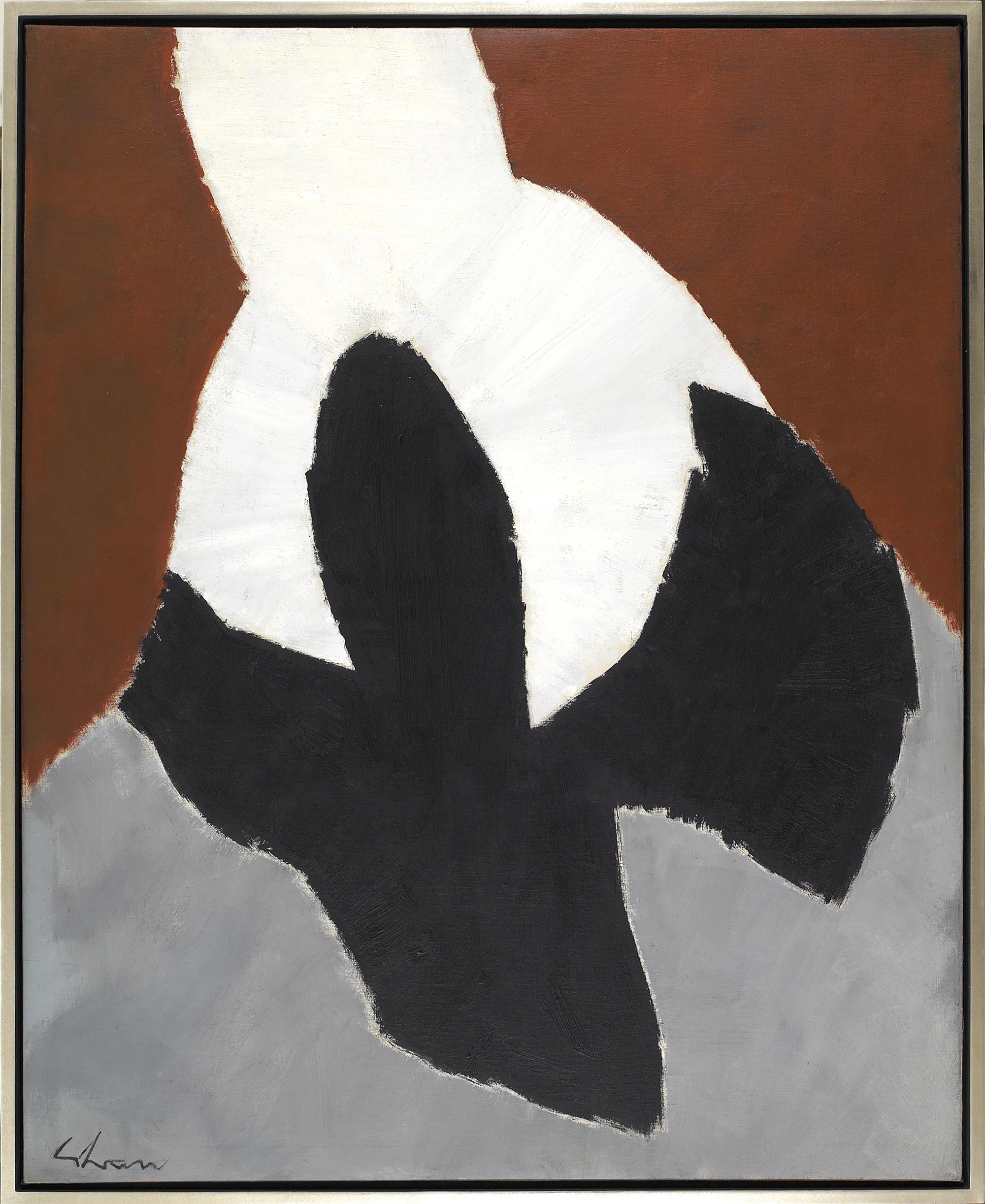 Rebirth,  Oil on canvas, 1961, 50 x 40 inches