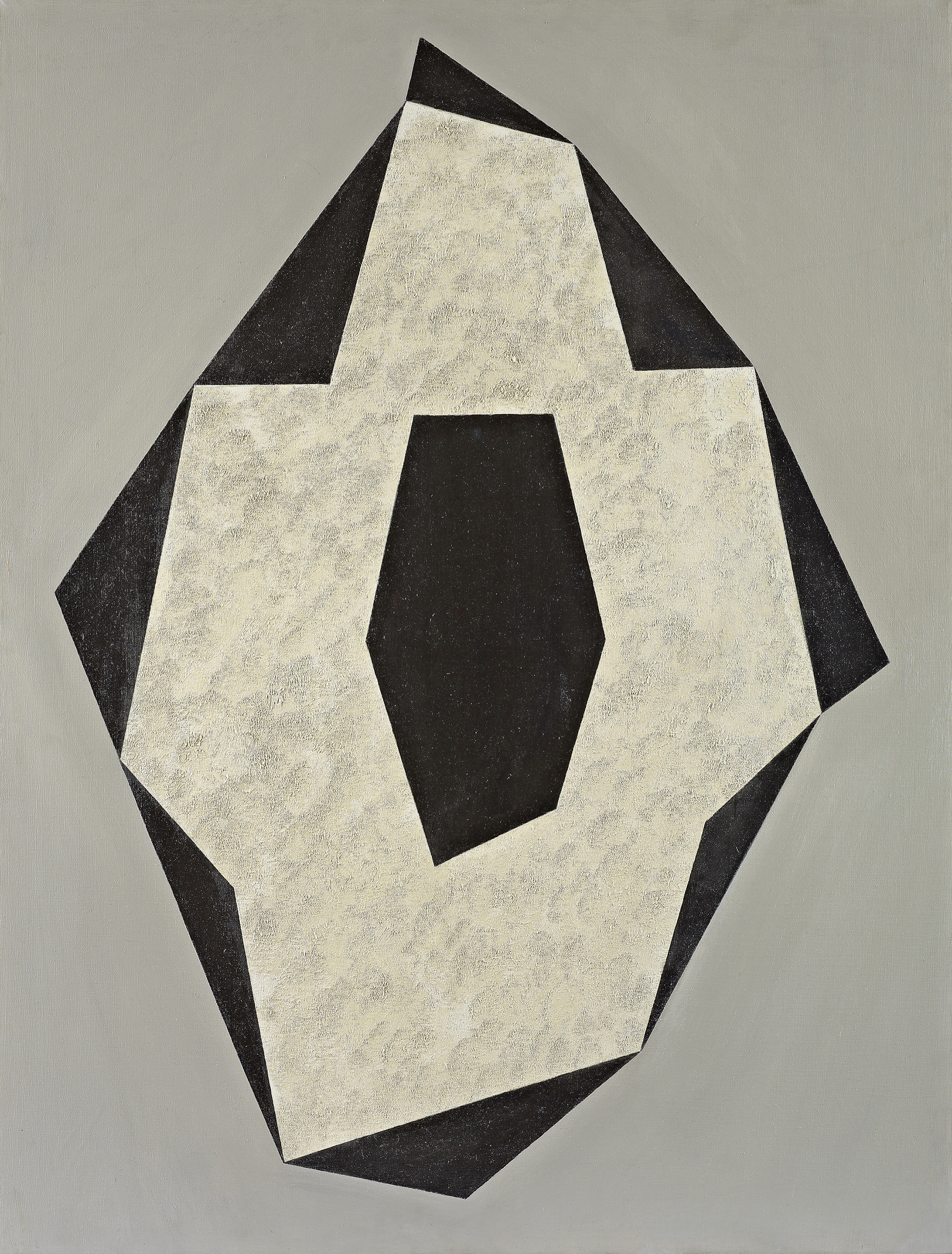 Polygon in Space,  Oil on canvas, 1969, 40 x 30 inches