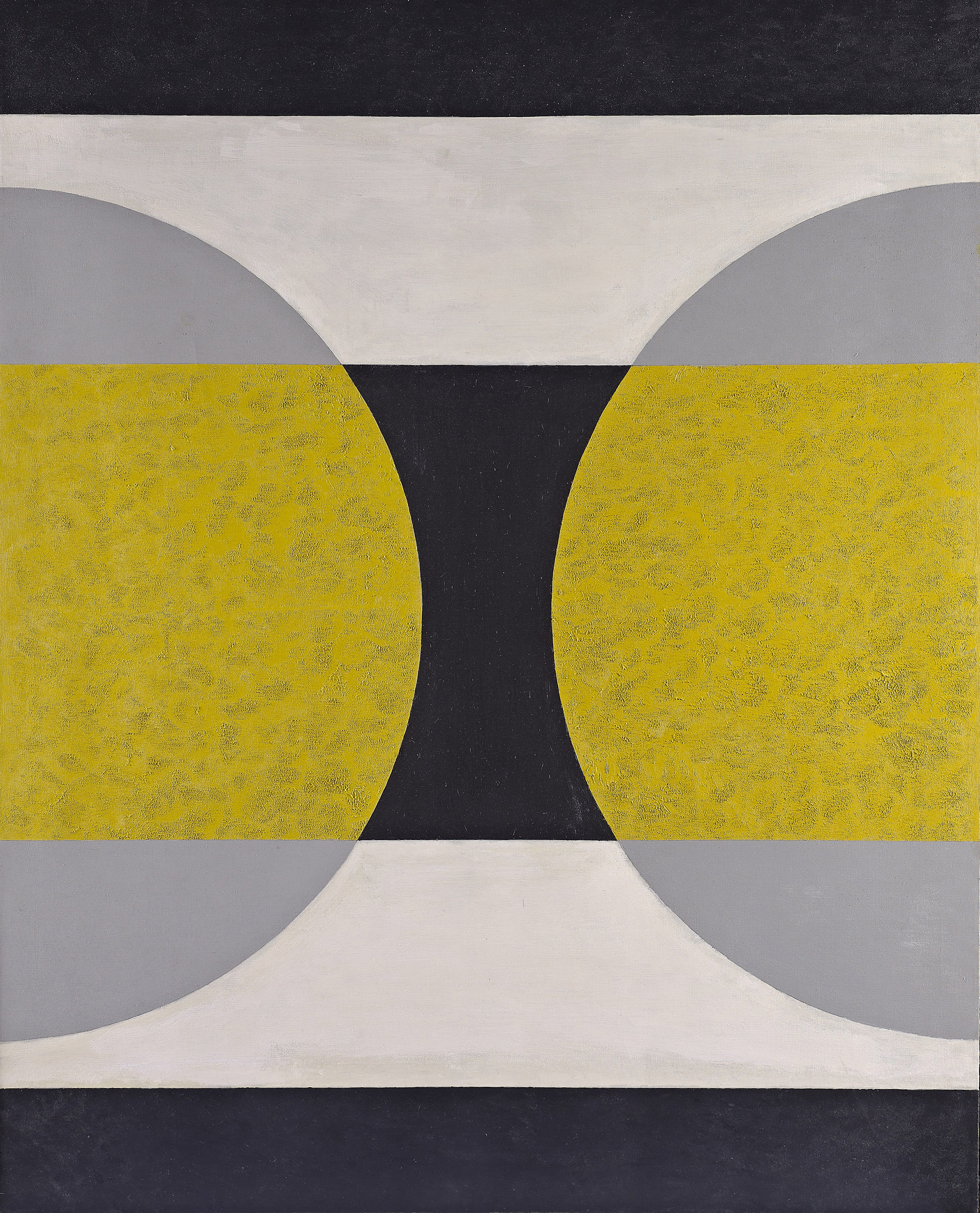 Circle Divided, 1970,   oil on canvas, 50 x 40 inches