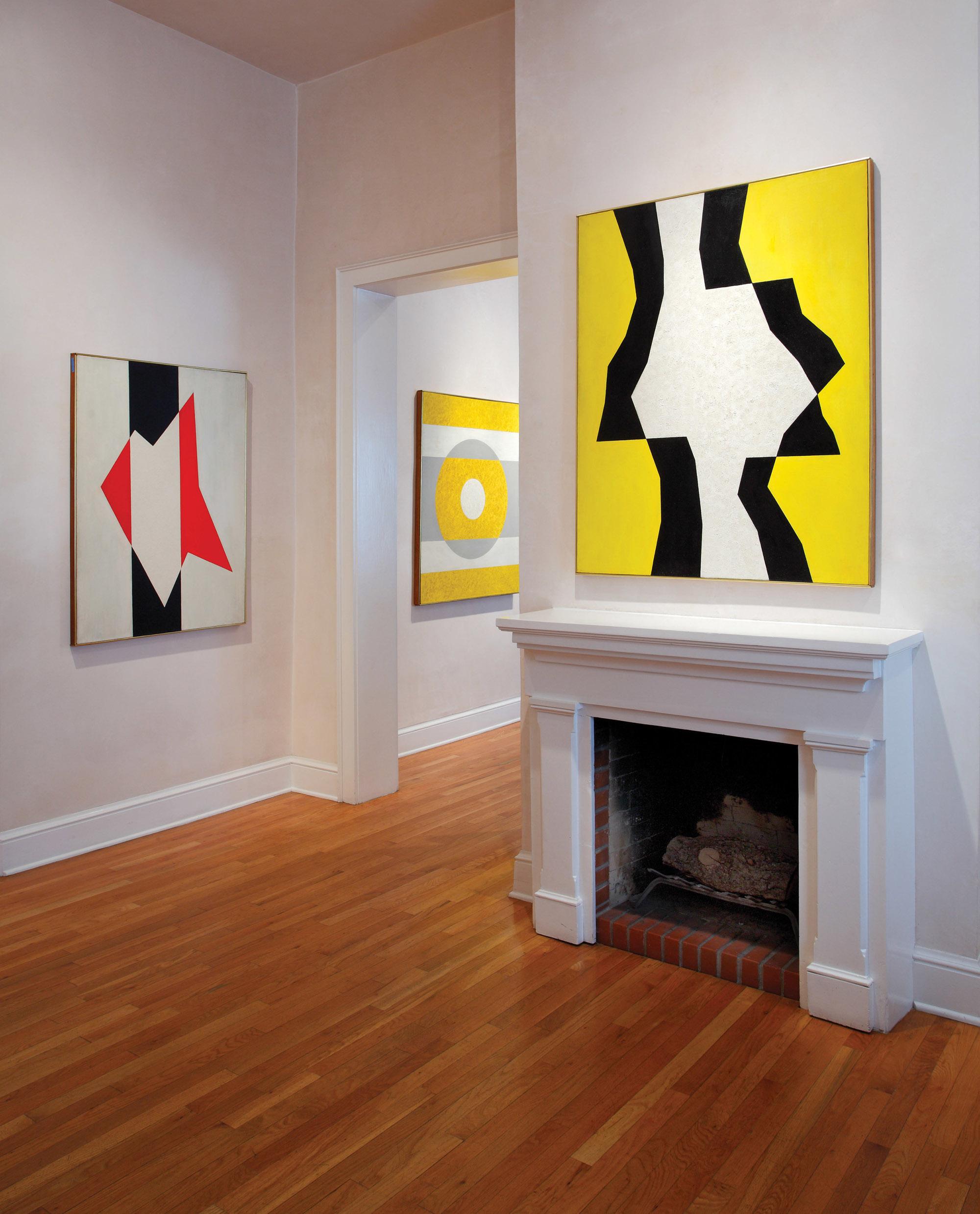Charles Green Shaw installed at Peyton Wright Gallery, Santa Fe