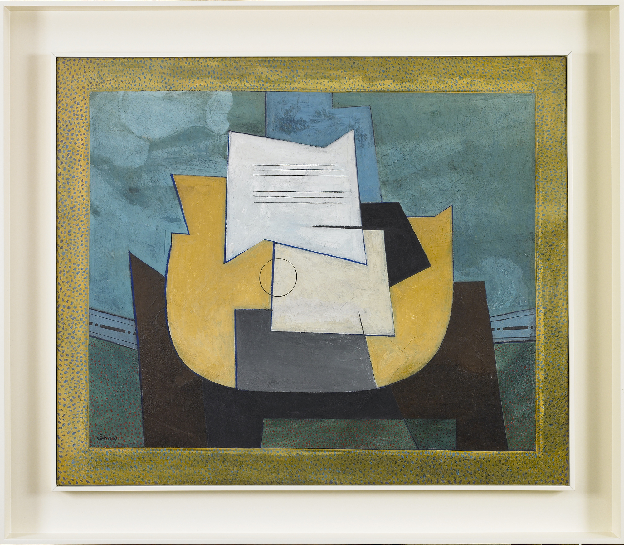 SOLD  Abstracted Still Life,   Oil on canvas, 1936-37, 30 x 36 inches