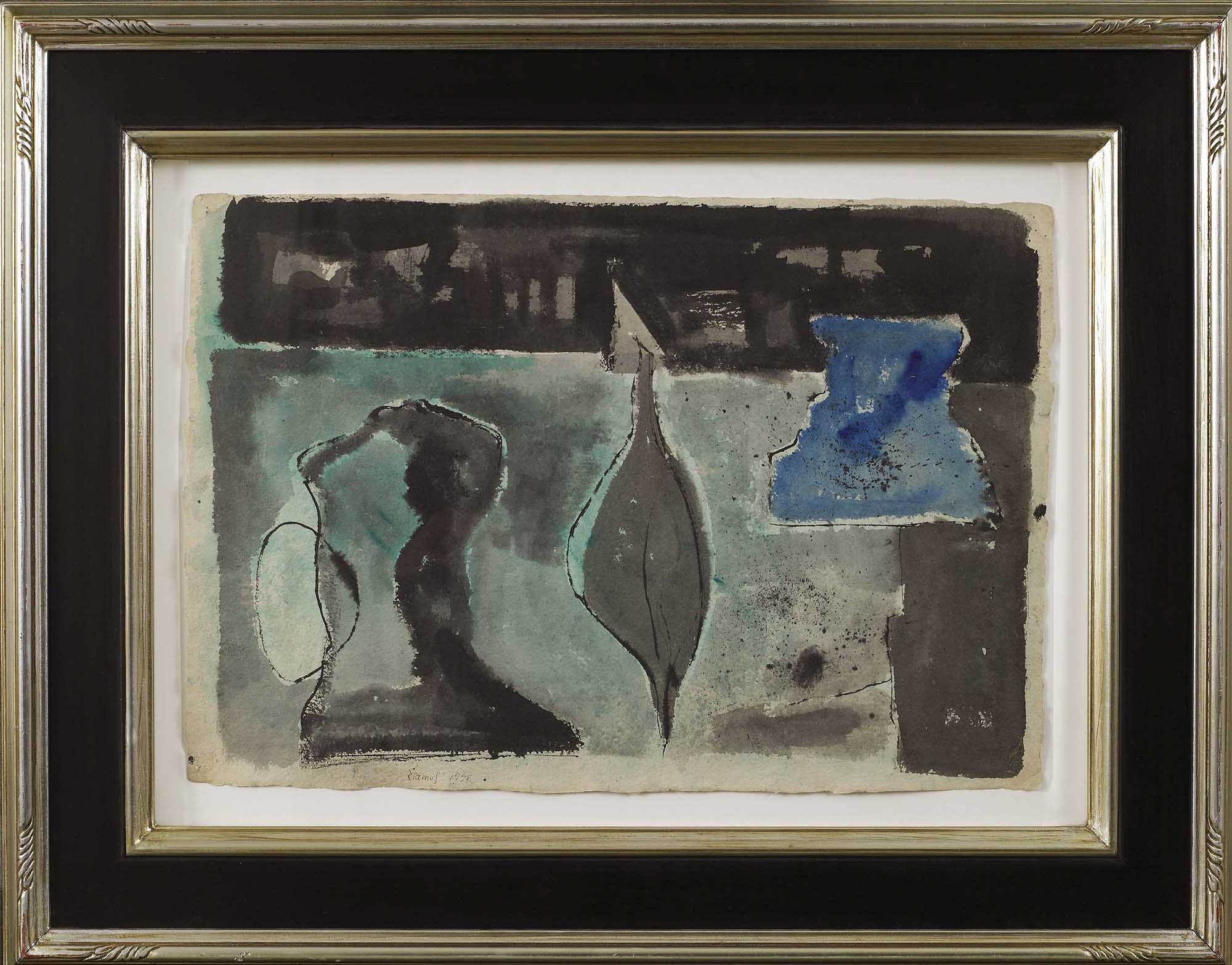 SOLD    Untitled, 1948 (Study for Three Kings, 1949),   Watercolor and ink on paper, 15 3/8 x 21 1/4 inches
