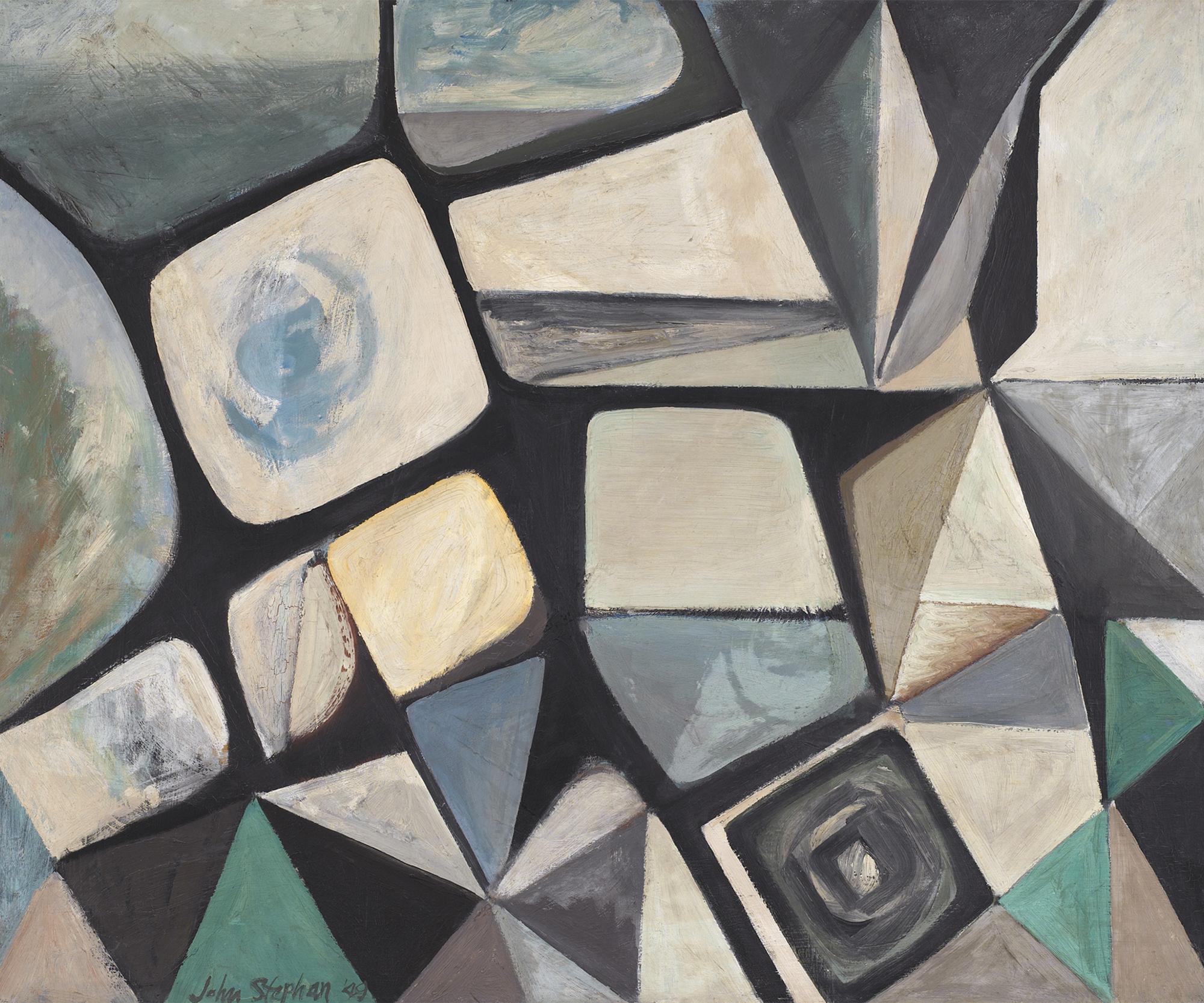 The Pyramid Confronts the Sea,  Oil on masonite, 1949, 36 x 44 inches
