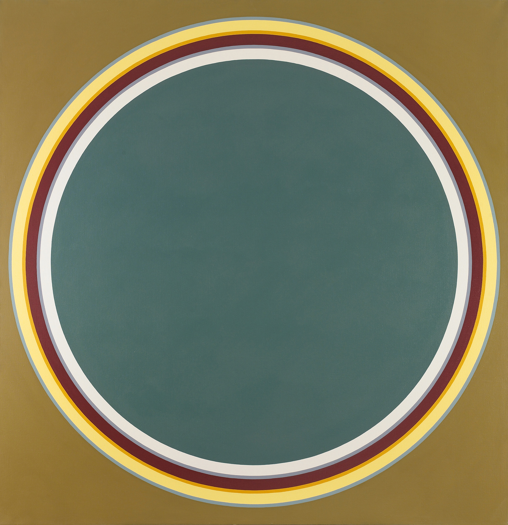 Disc #7   ,  Acrylic on canvas, 1970, 70 x 68 inches
