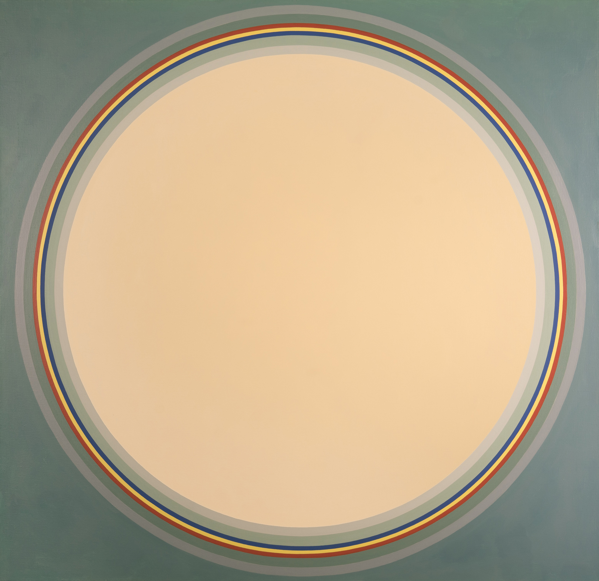 Untitled (Disc)   ,  Acrylic on Canvas, 1972, 58 x 60 inches