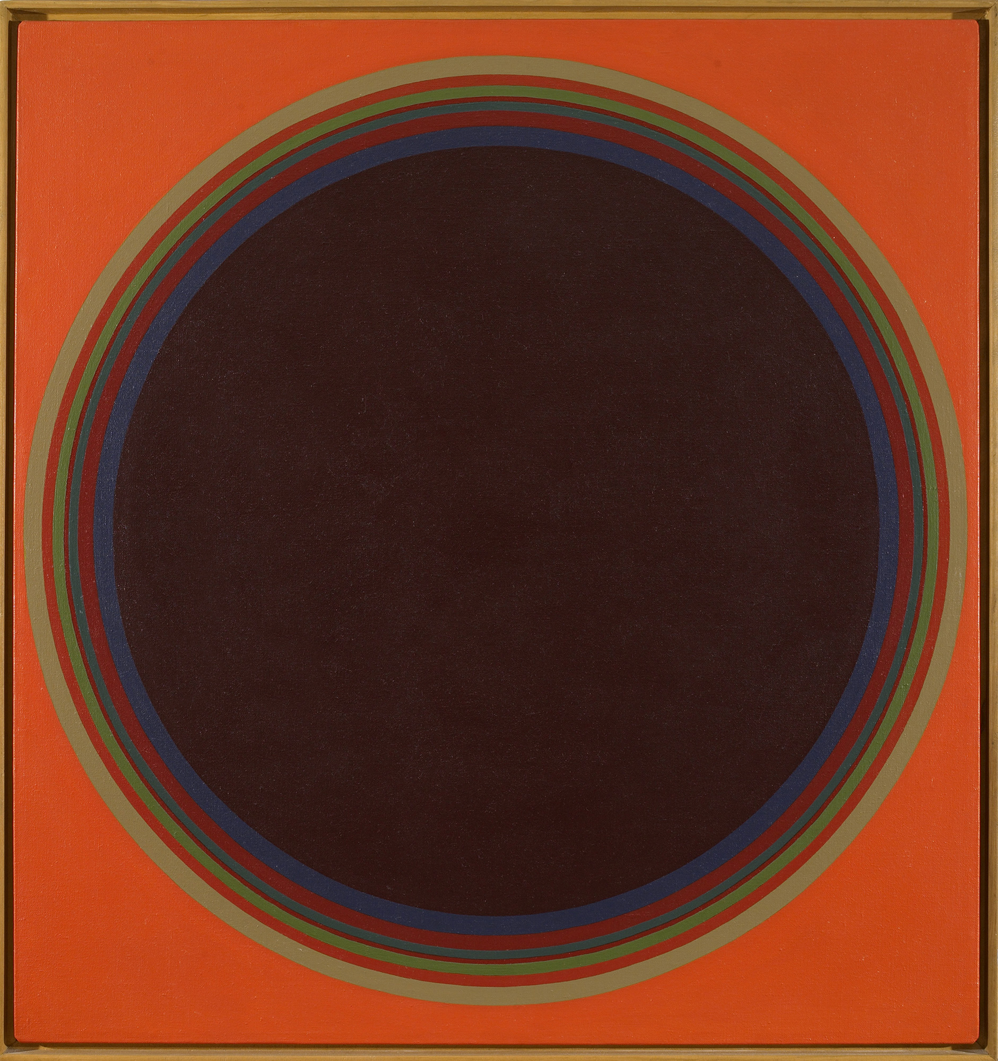 Disc #2, 1974  , acrylic on linen canvas, 36 x 34 inches