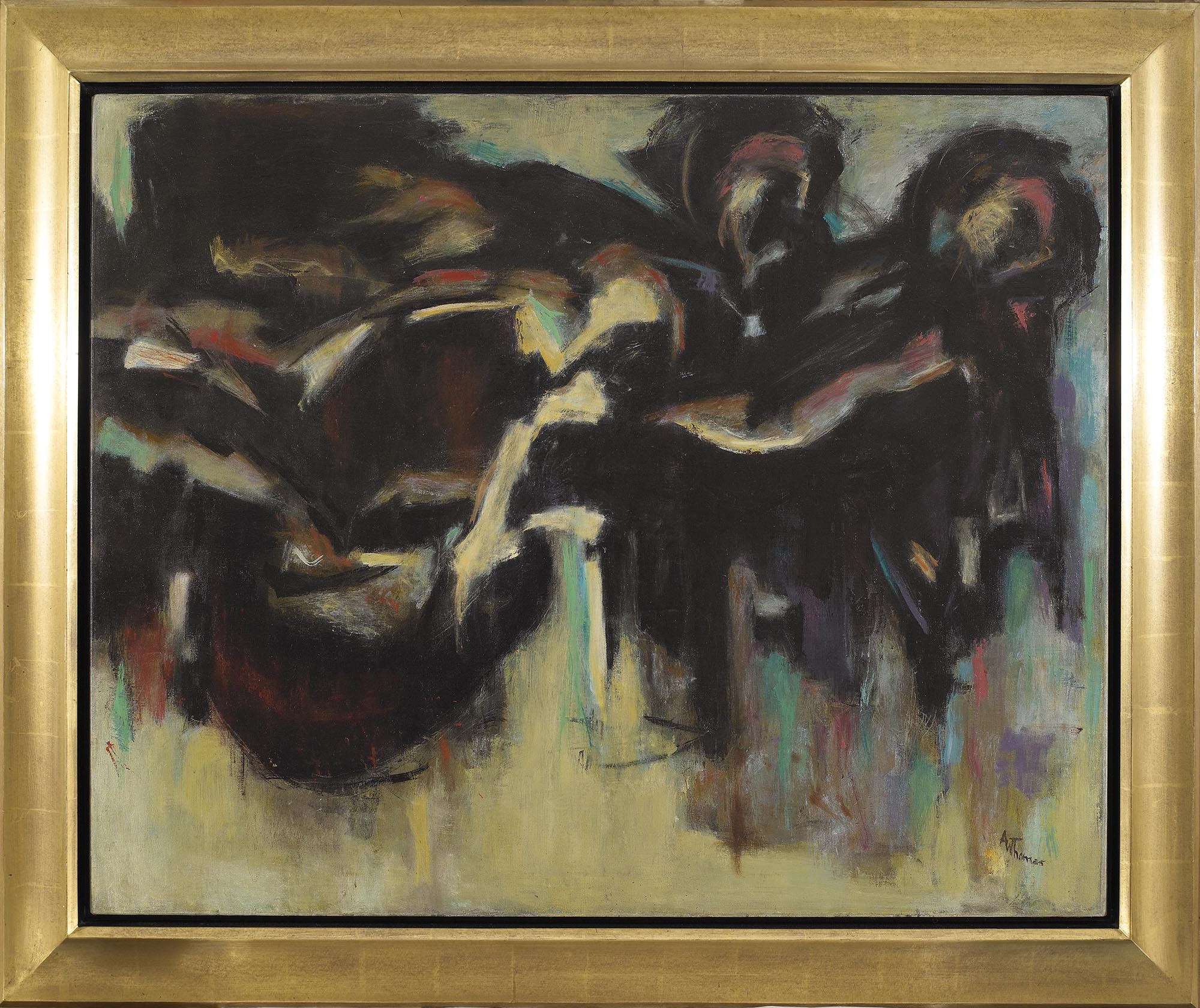 SOLD  Untitled,   c. 1958, Oil on Canvas, 32 1/4 x 40 1/4 inches