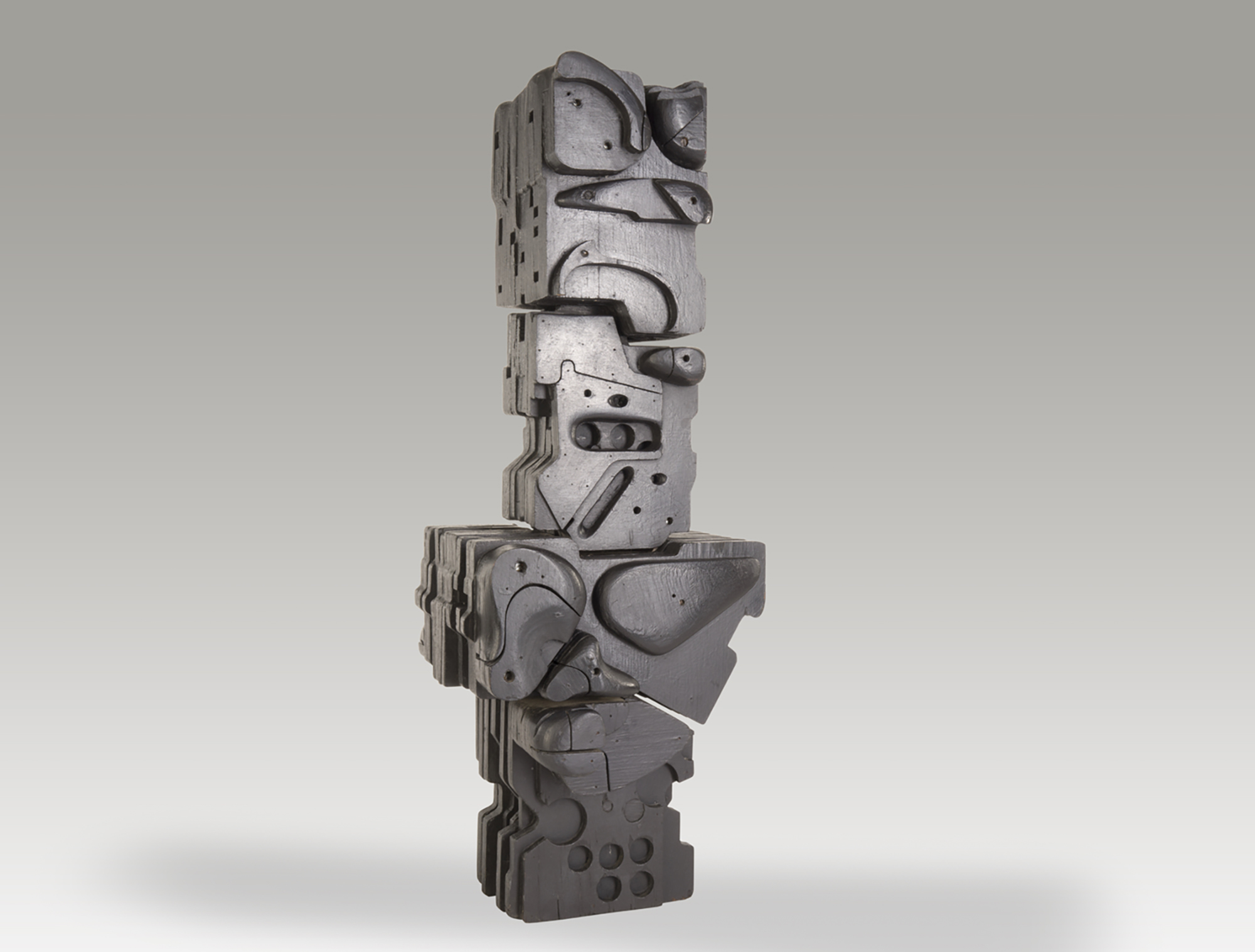 Totem,   1964, Acrylic on wood, 42 x 16 x 15 inches
