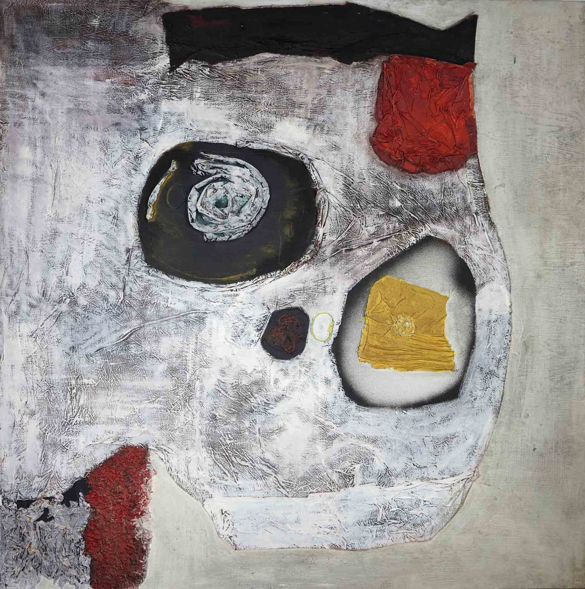 Untitled  ,   1961  , oil and mixed media on canvas, 48 x 48 inches