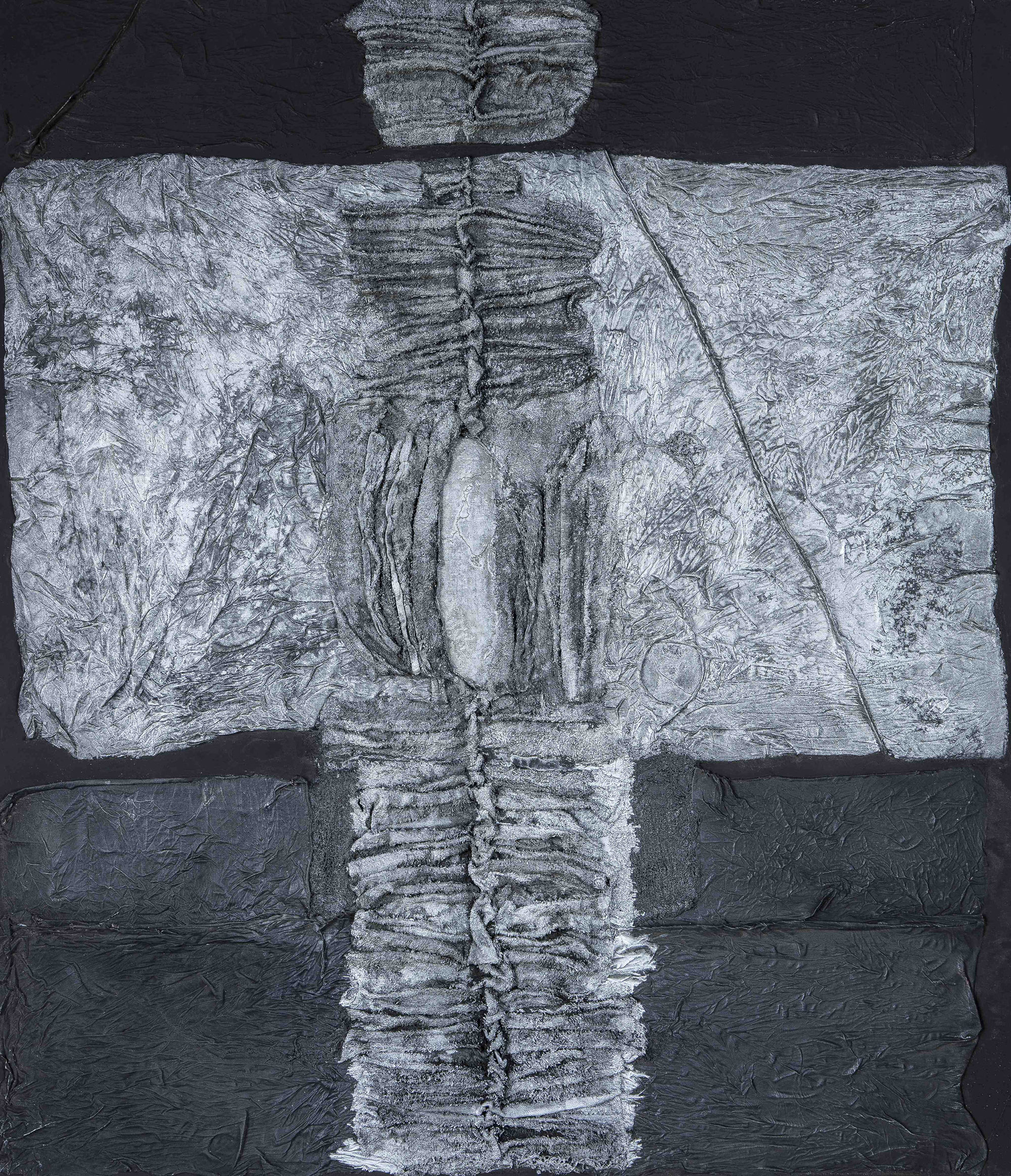 Untitled, 1962  , oil and mixed media on canvas, 42 x 36 1/2 inches