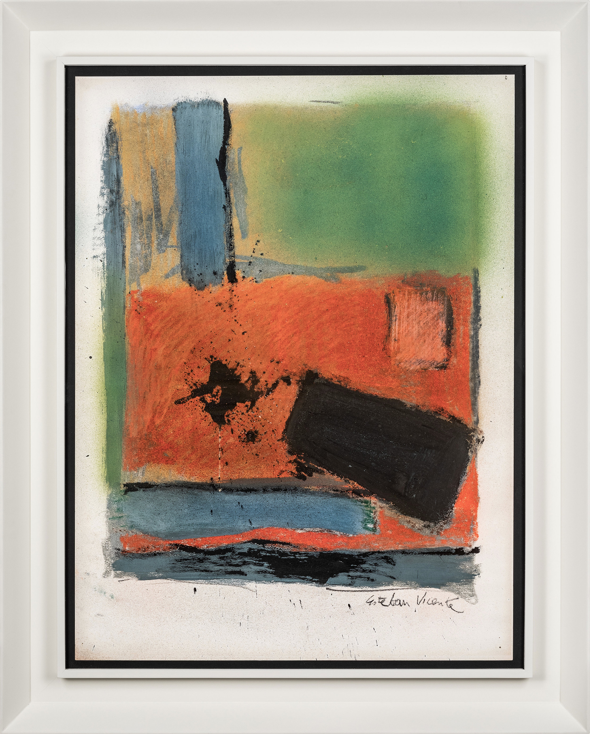SOLD  Untitled (D80-15)  , Pastel and charcoal on paper, 1980, 29 1/2 x 21 1/2 inches