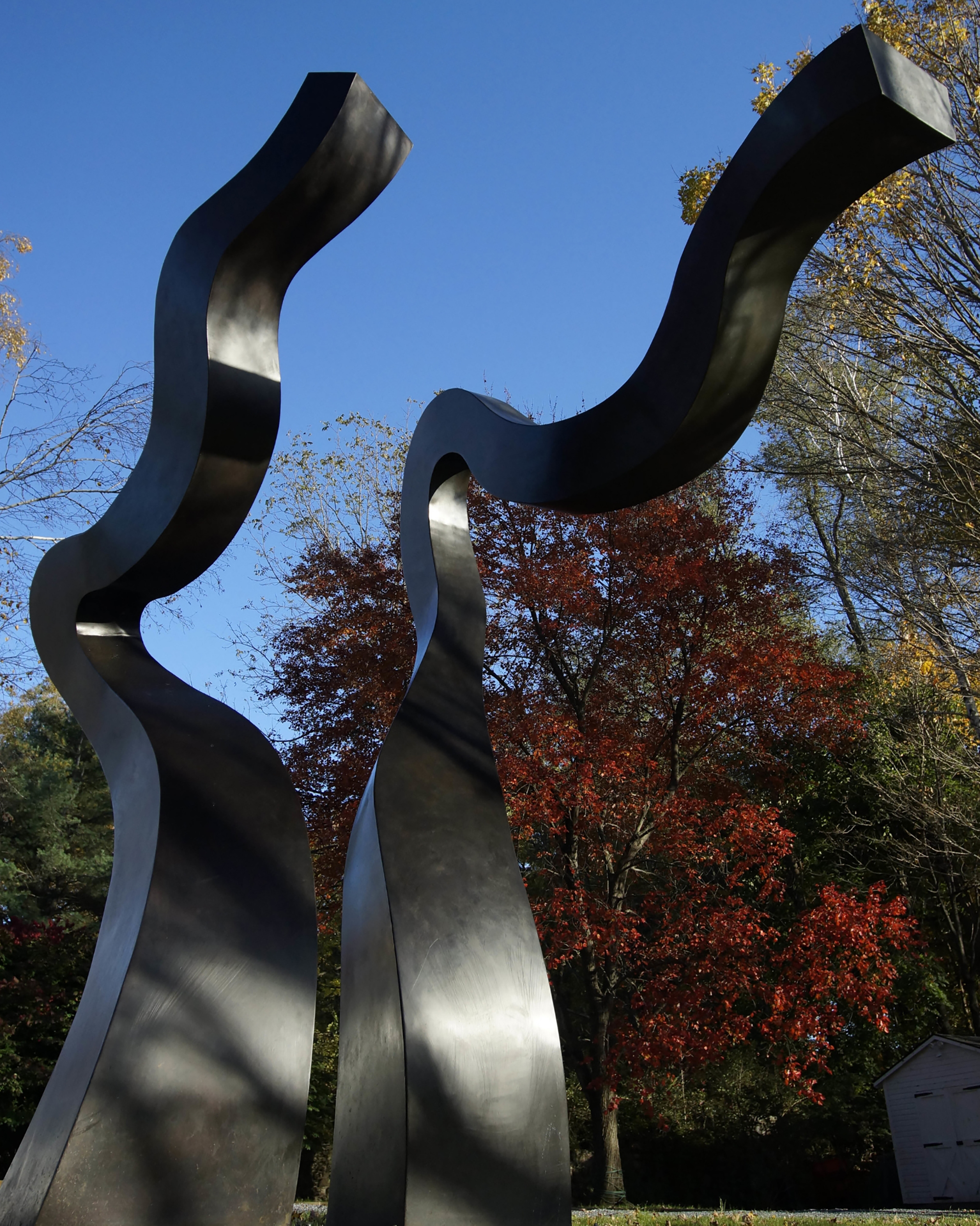 Stella in the Wind, 2009-11  , bronze sculpture, 138 x 120 x 72 inches, installation at Vallarino Fine Art, Millbrook, NY