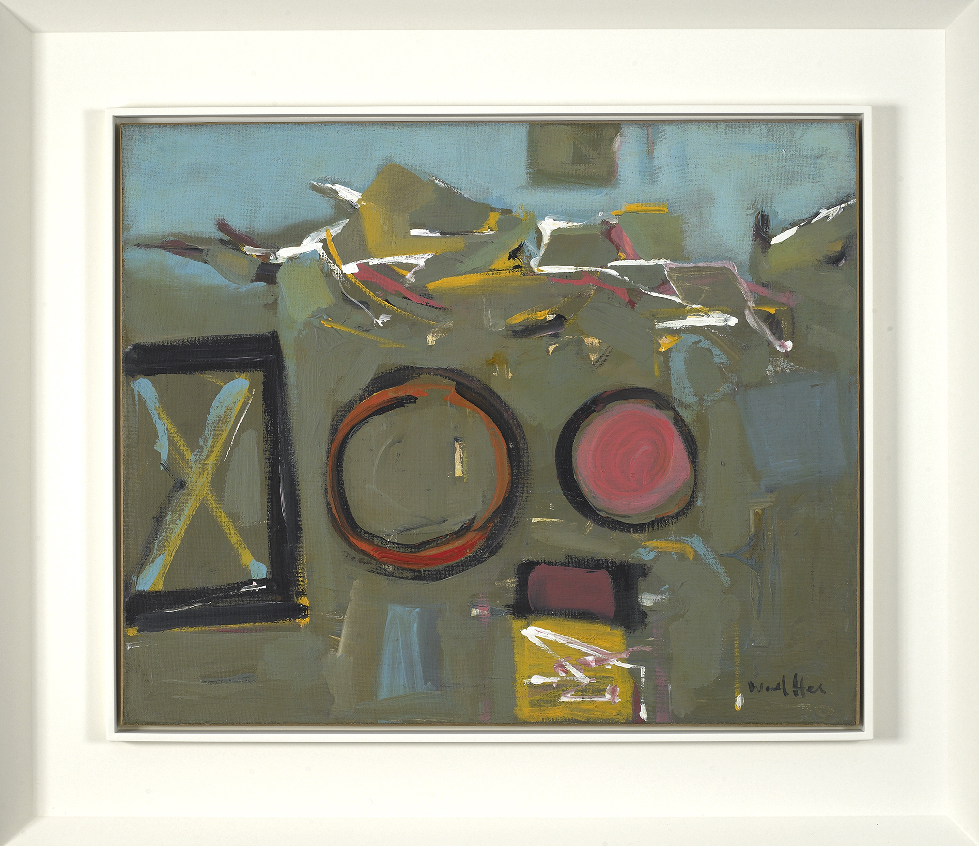 SOLD  Untitled   ,  Oil on canvas, 1950s, 23 x 27 1/2 inches