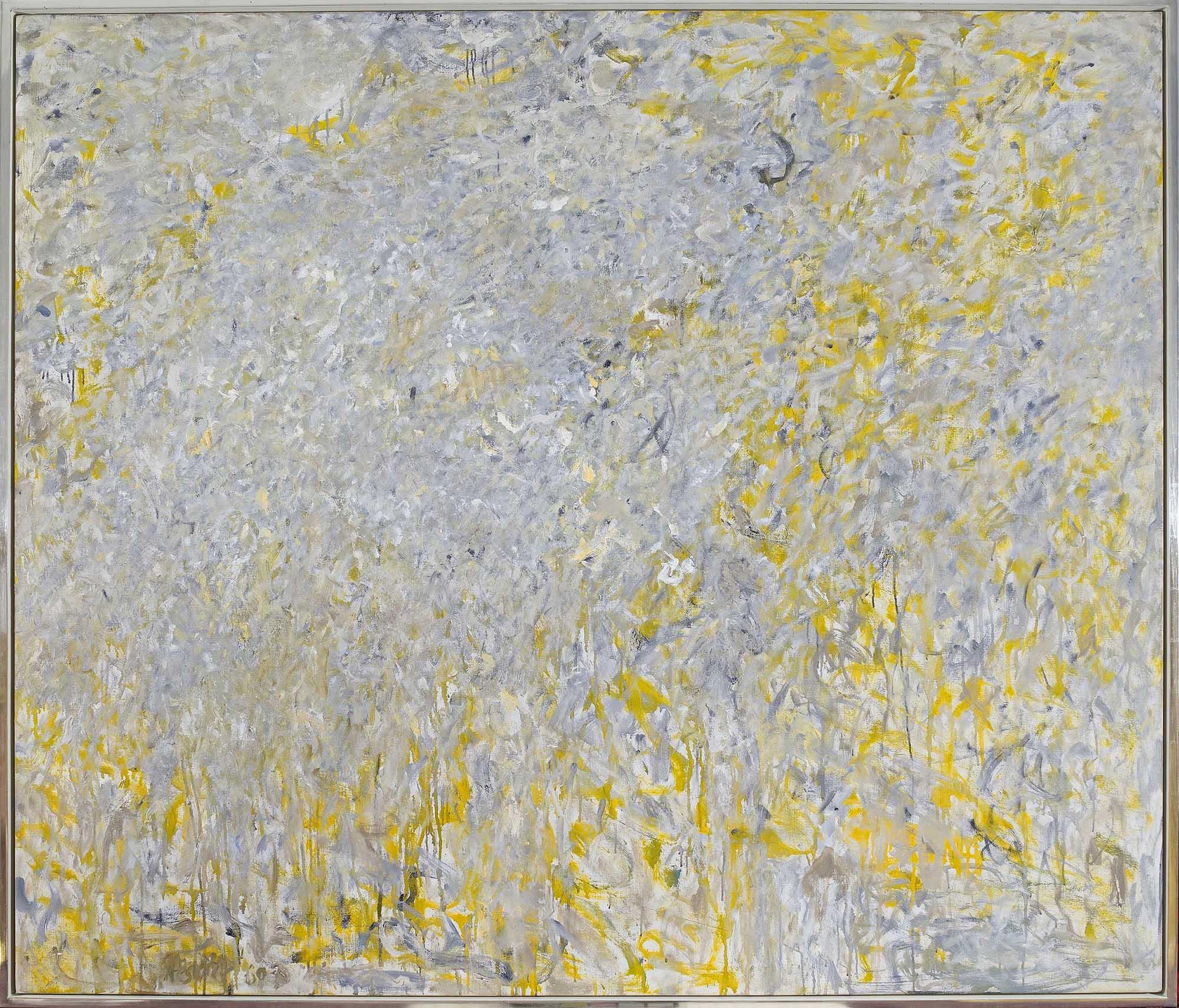 SOLD   Epsilon, 1960 - 61,  oil on canvas, 61 x 70 1/4 inches