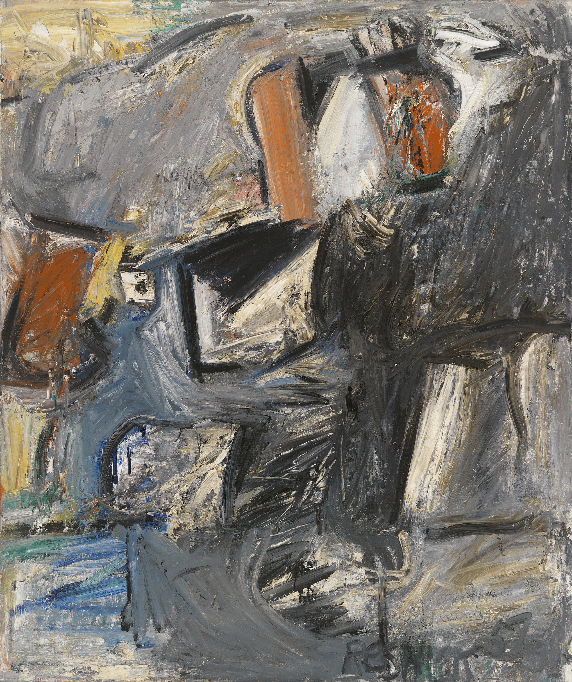 Winged Horse,   Oil on canvas, 1957, 70 x 59 inches