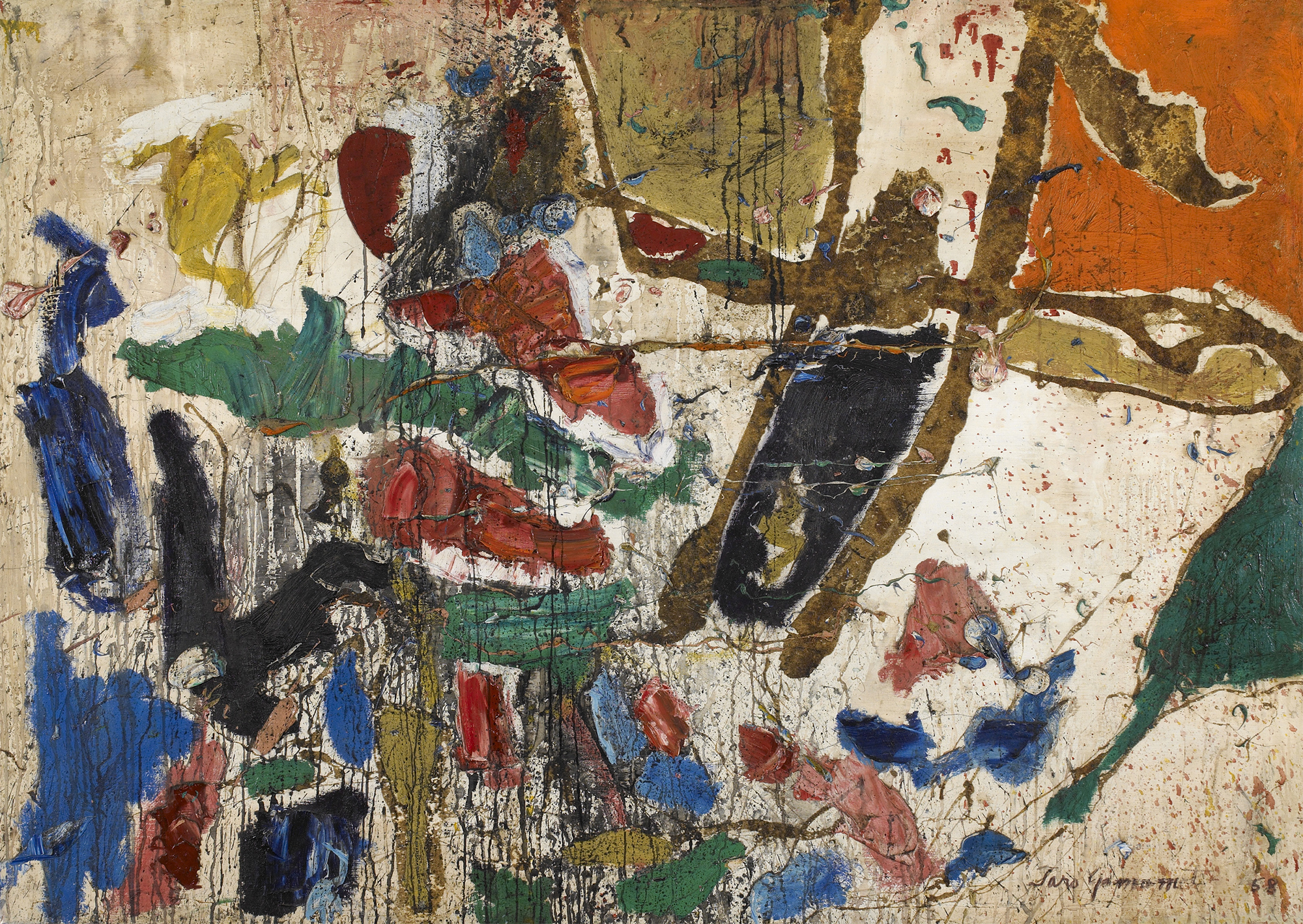 SOLD  Untitled, 1958,   oil on canvas, 50 x 70 inches