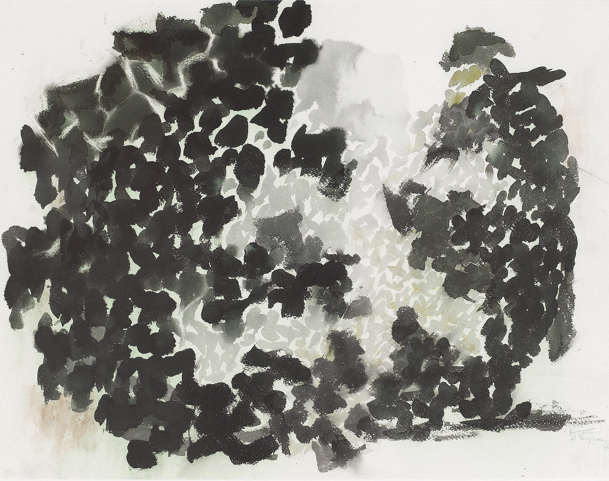 SOLD  Untitled,    1966,  Watercolor on paper, 21 1/5 x 29 1/2 inches