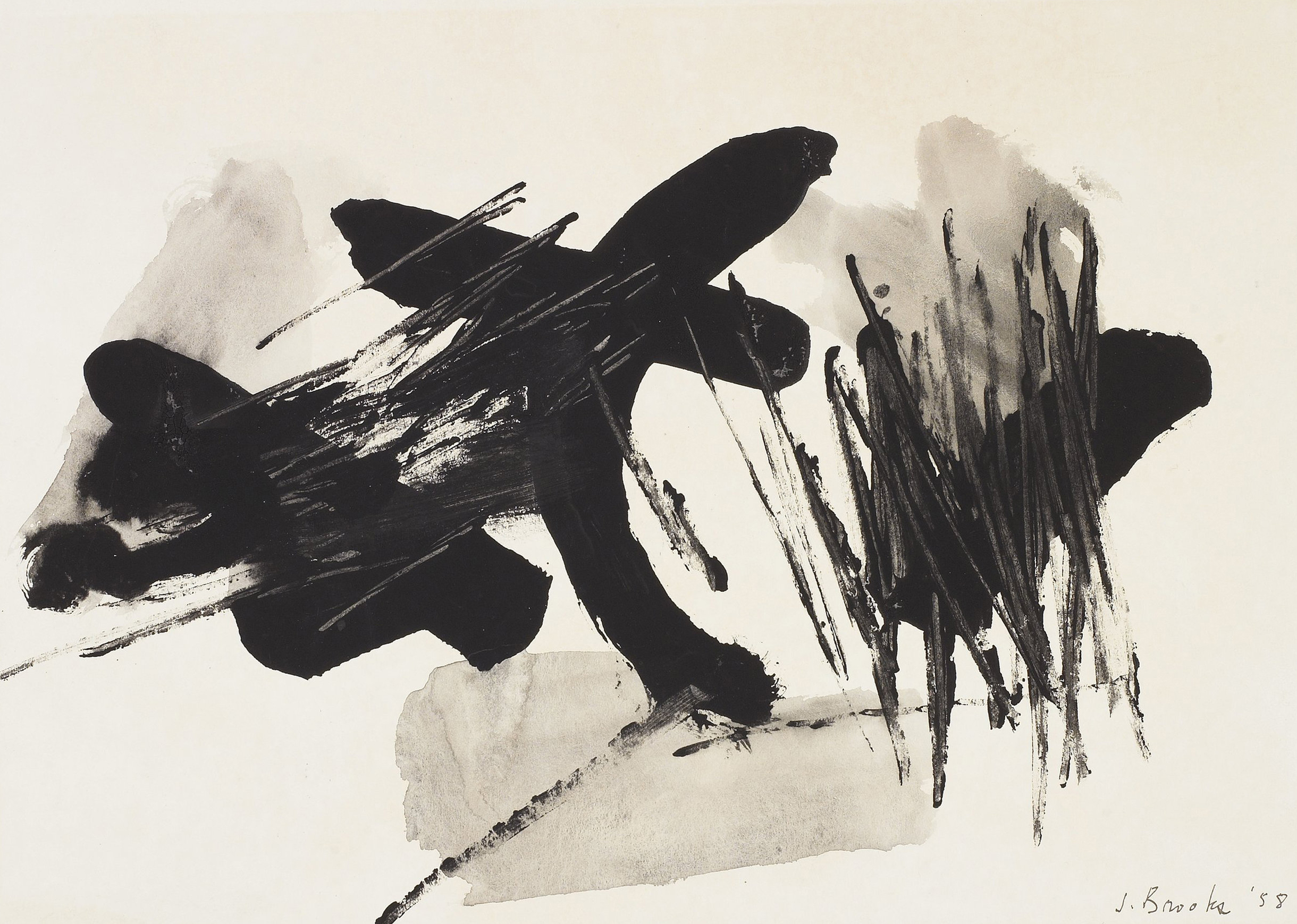 SOLD  Untitled,   Ink on paper, 1958, 11 1/4 x 15 3/4 inches