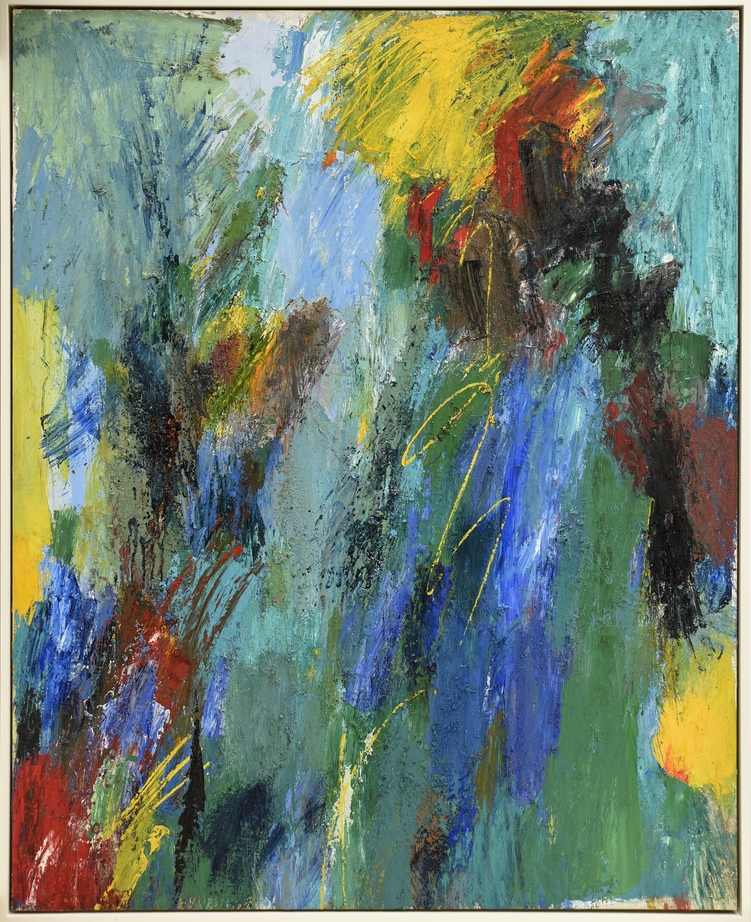 Untitled  , Oil on canvas, c. 1950s, 52 x 45 inches