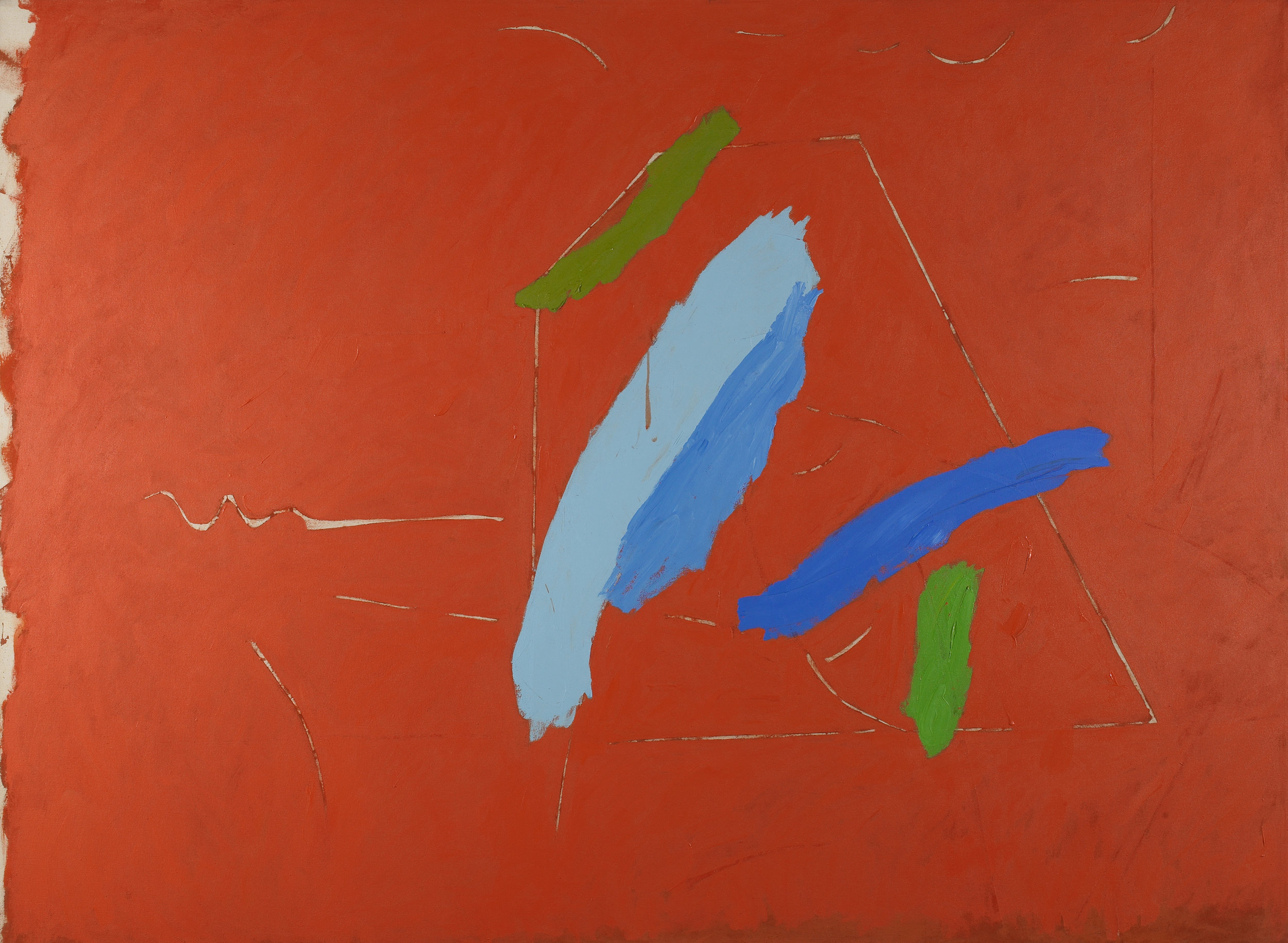 Untitled  , 1982, Acrylic on canvas, 66 x 90 inches