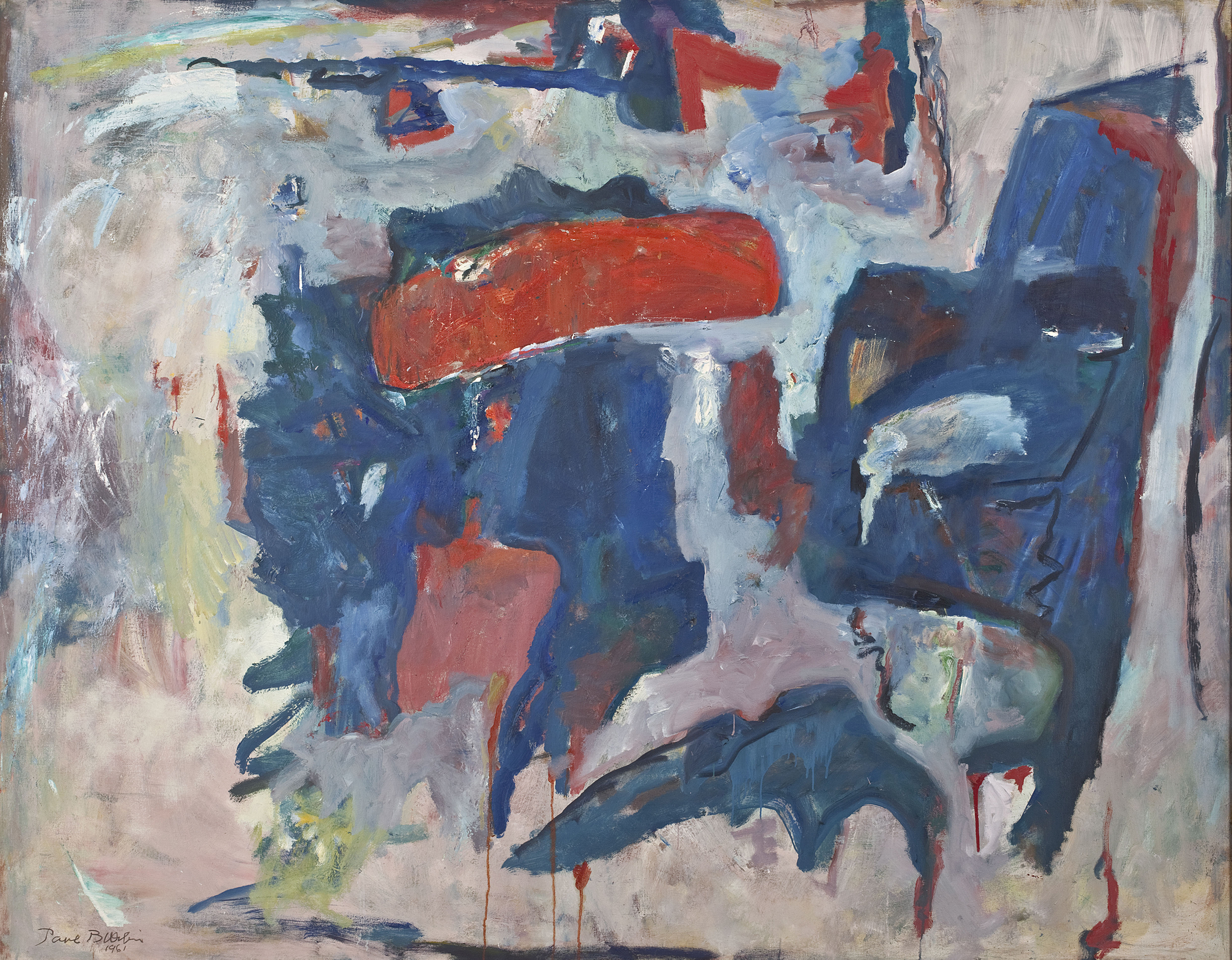 Nothing At Will ,  Oil on canvas, 1961, 72 x 83 inches