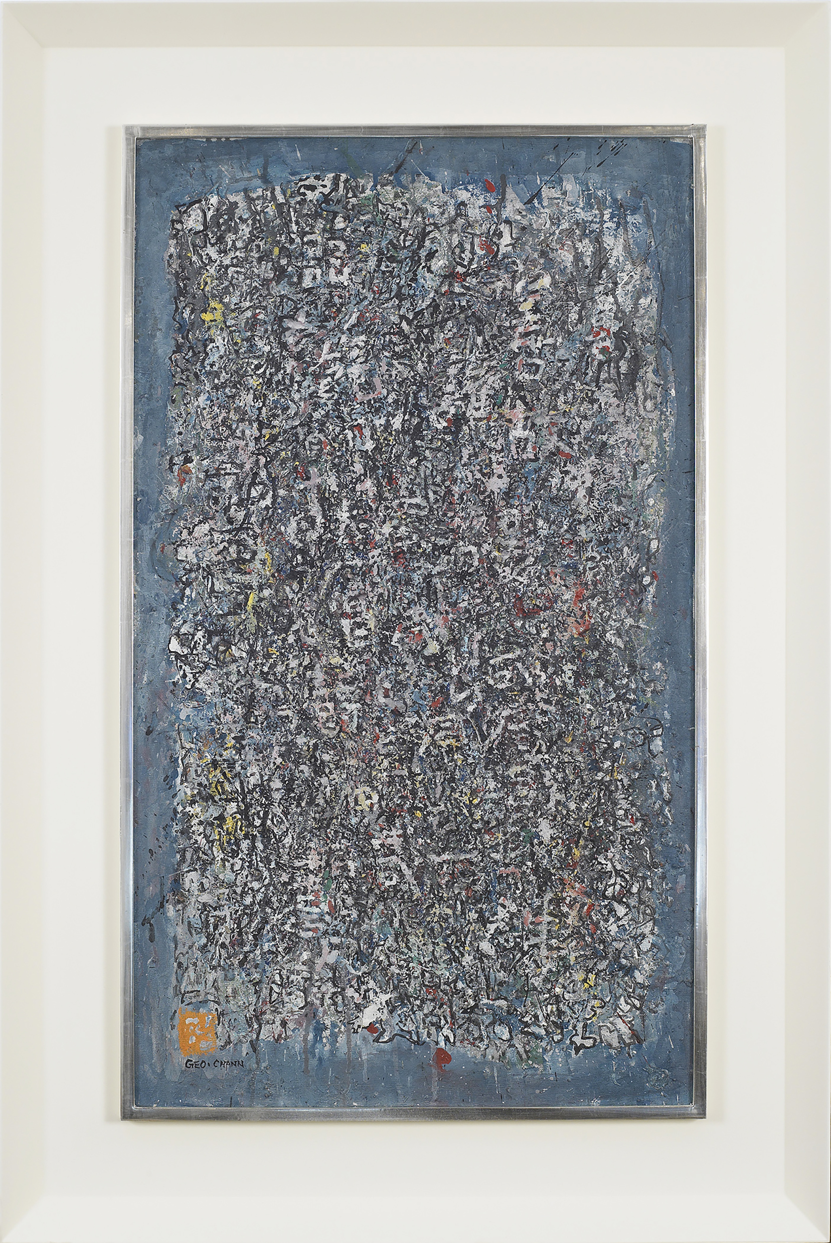 SOLD ,   Untitled,   1969, Oil on canvas, 36 3/8 x 21 1/8 inches