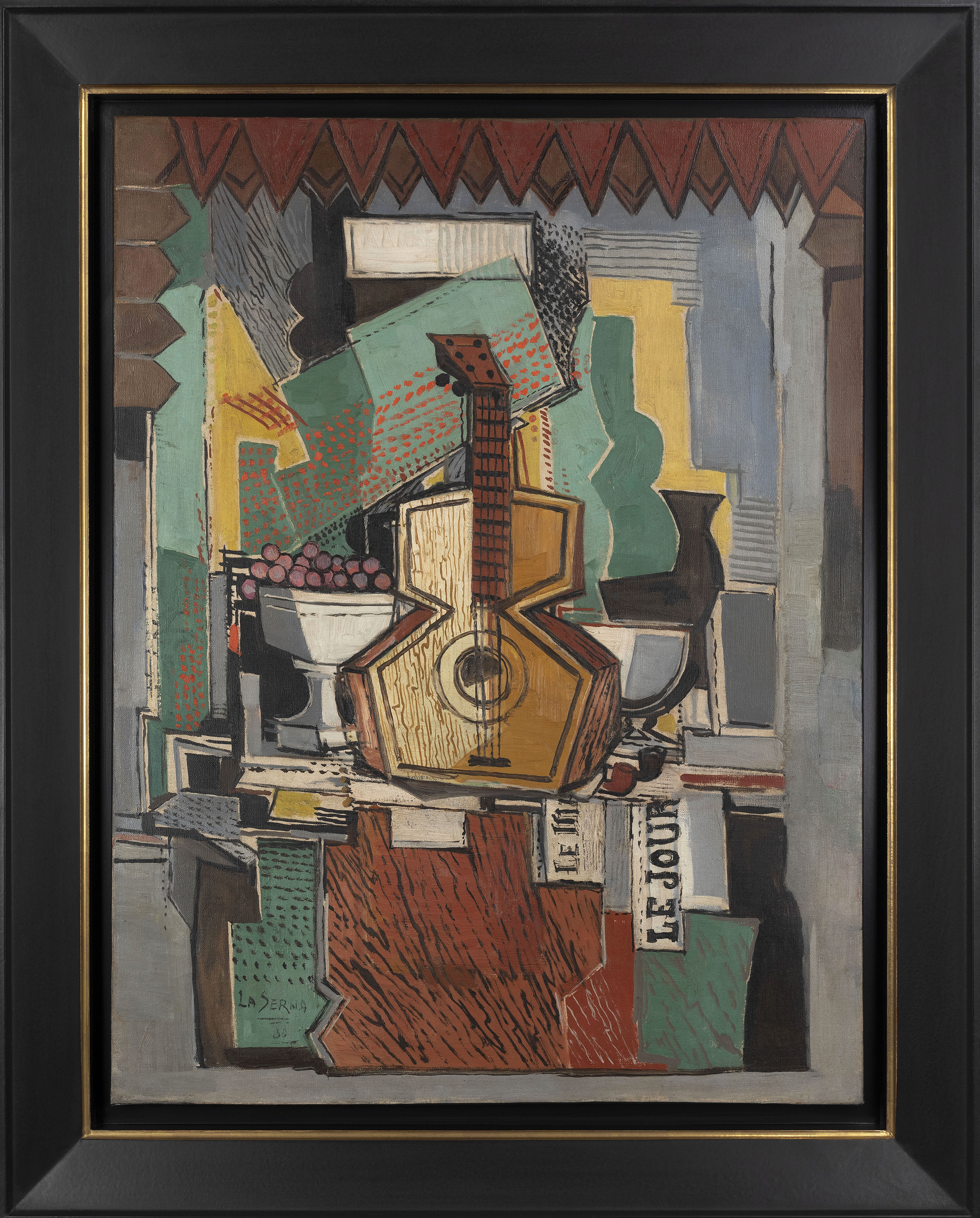 Still Life with Guitar  , Oil on canvas, 1930, 31 1/2 x 23 5/8 inches