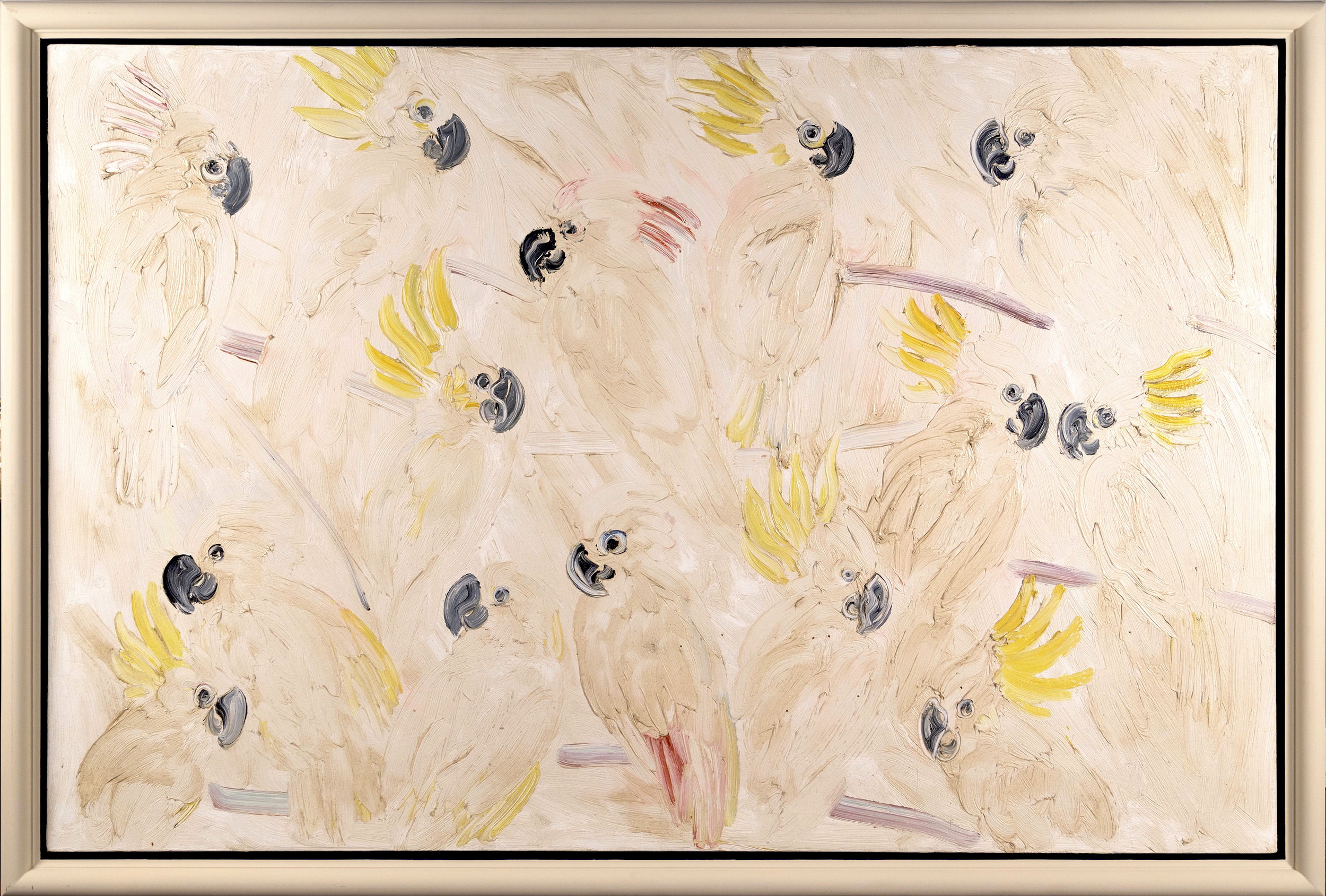Cockatoos  , Oil on canvas, 1991, 44 x 66 inches