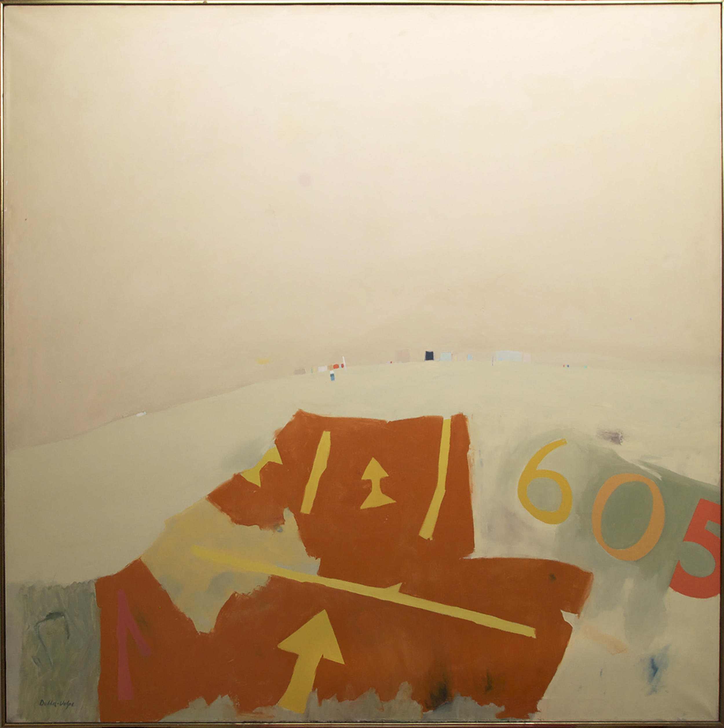 Beach Parking Lot  , Oil on canvas, 1968, 72 x 72 inches