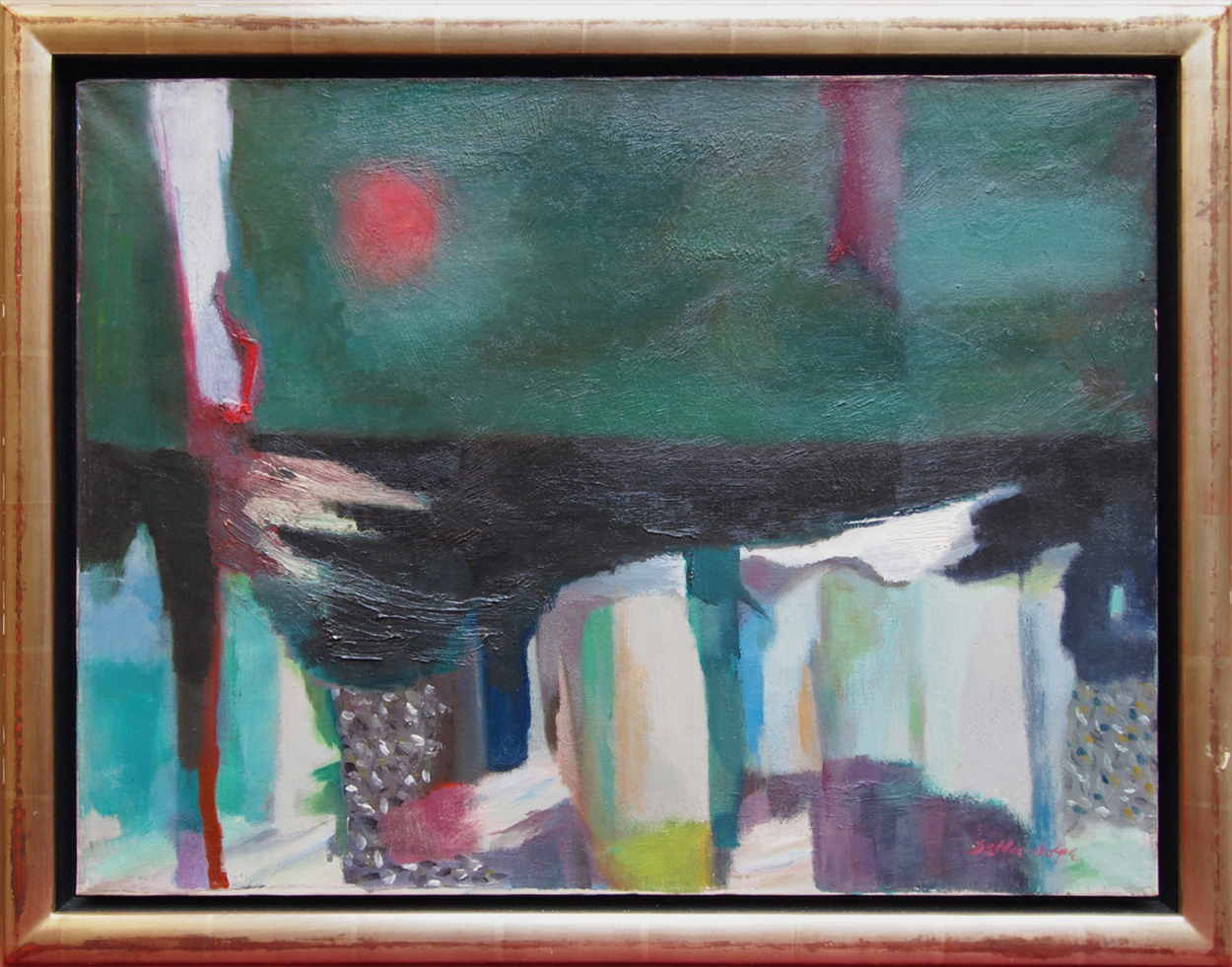 Weather Beaten Docks,   Oil on canvas, 1953-54, 18 x 24 inches