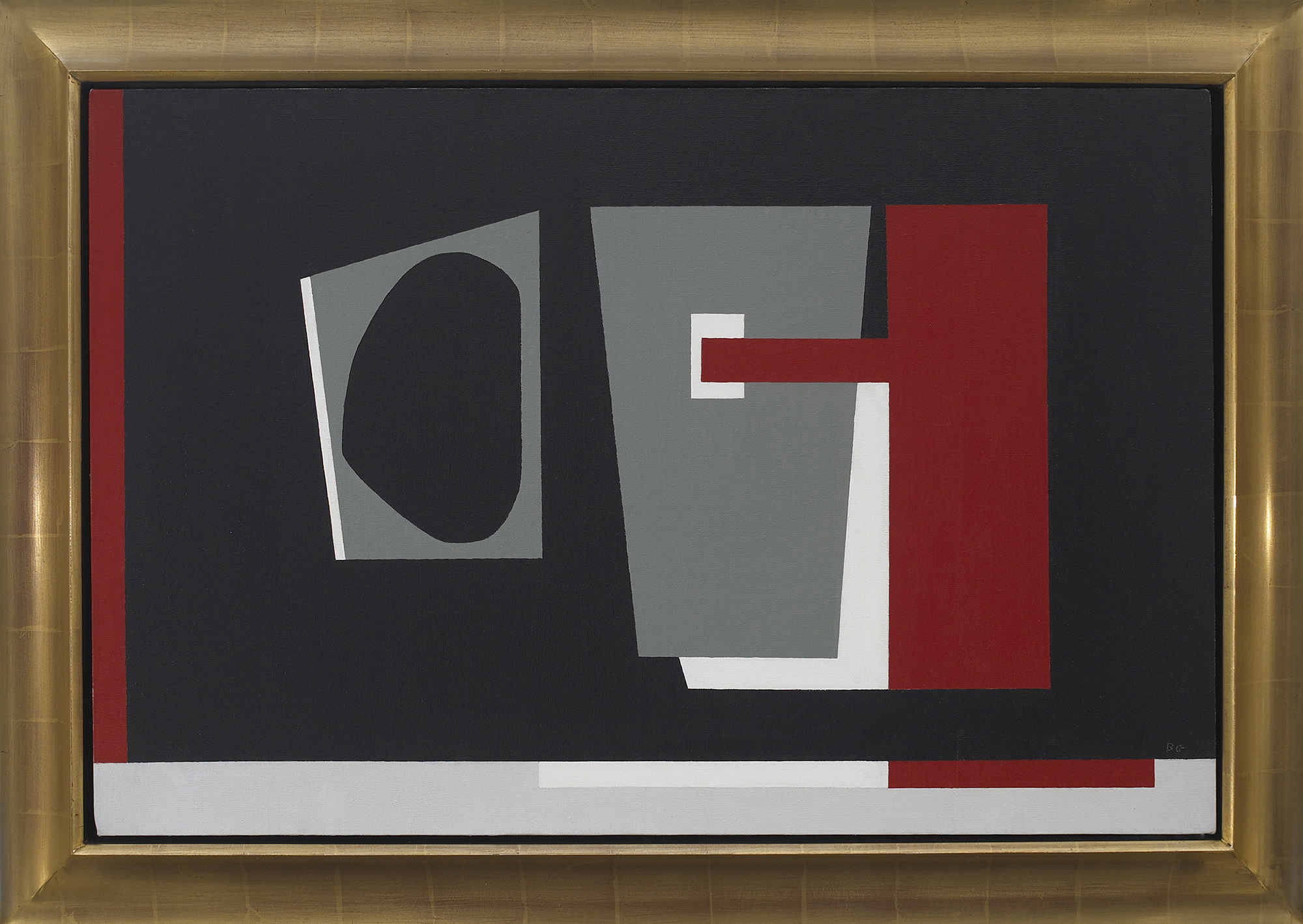 SOLD  Amorphous Black,   Oil on canvas, 1939-68, 24 x 36 inches