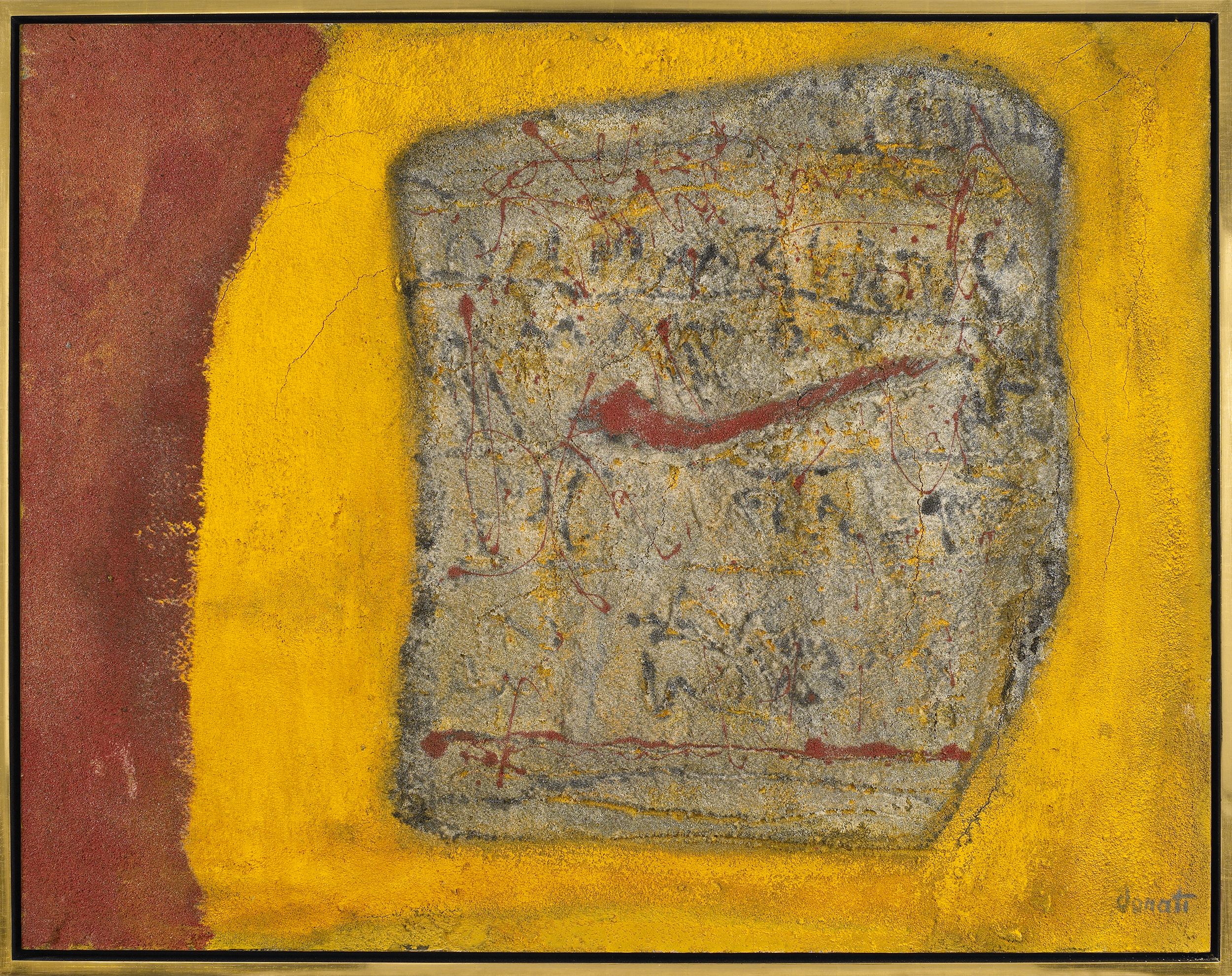 Fossil Series: 3001 BC  , Oil and sand on canvas, 1962, 35 x 45 inches