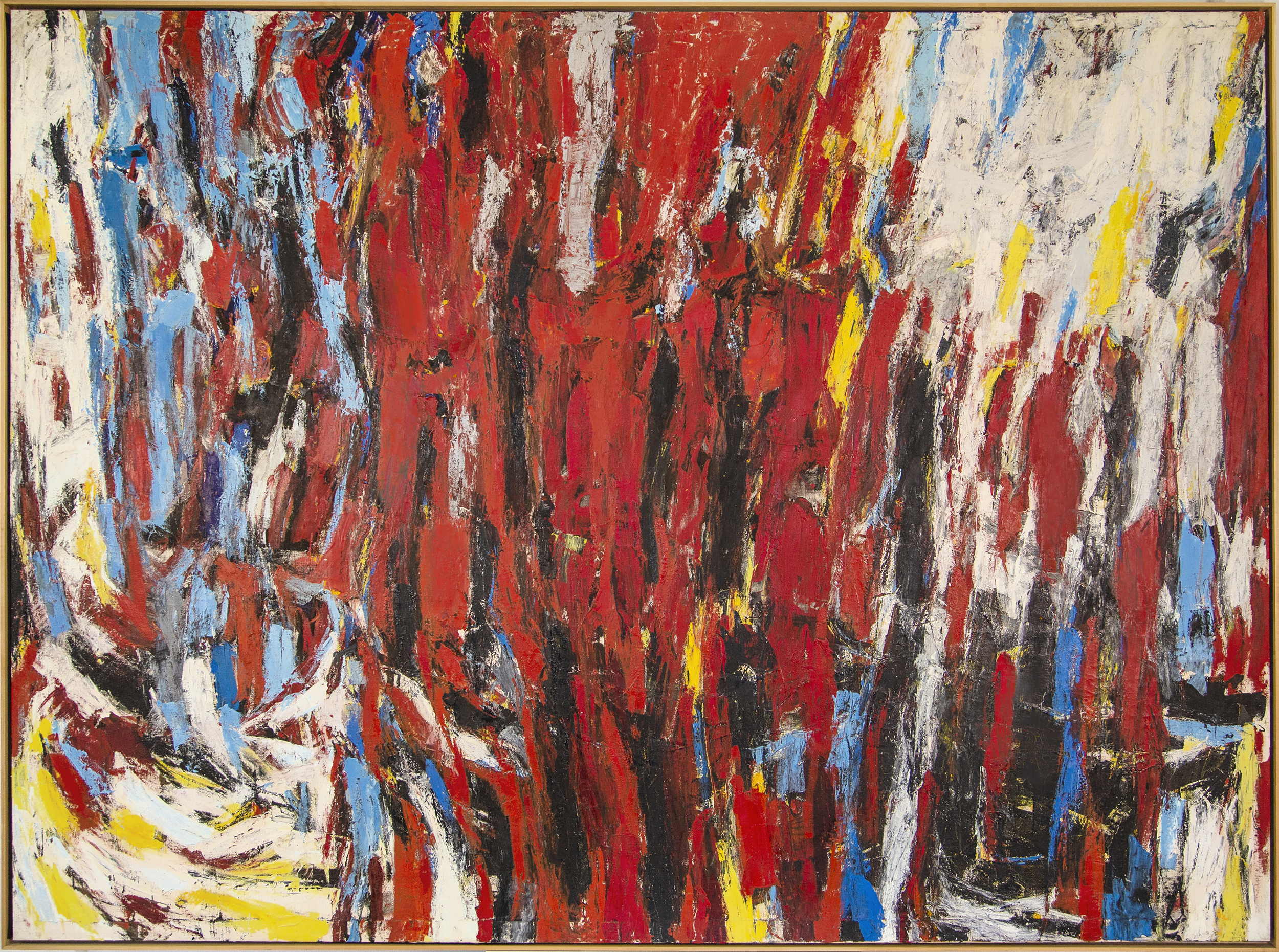 23rd Street #2  , Oil on canvas, 1956, 70 x 94 1/4 inches