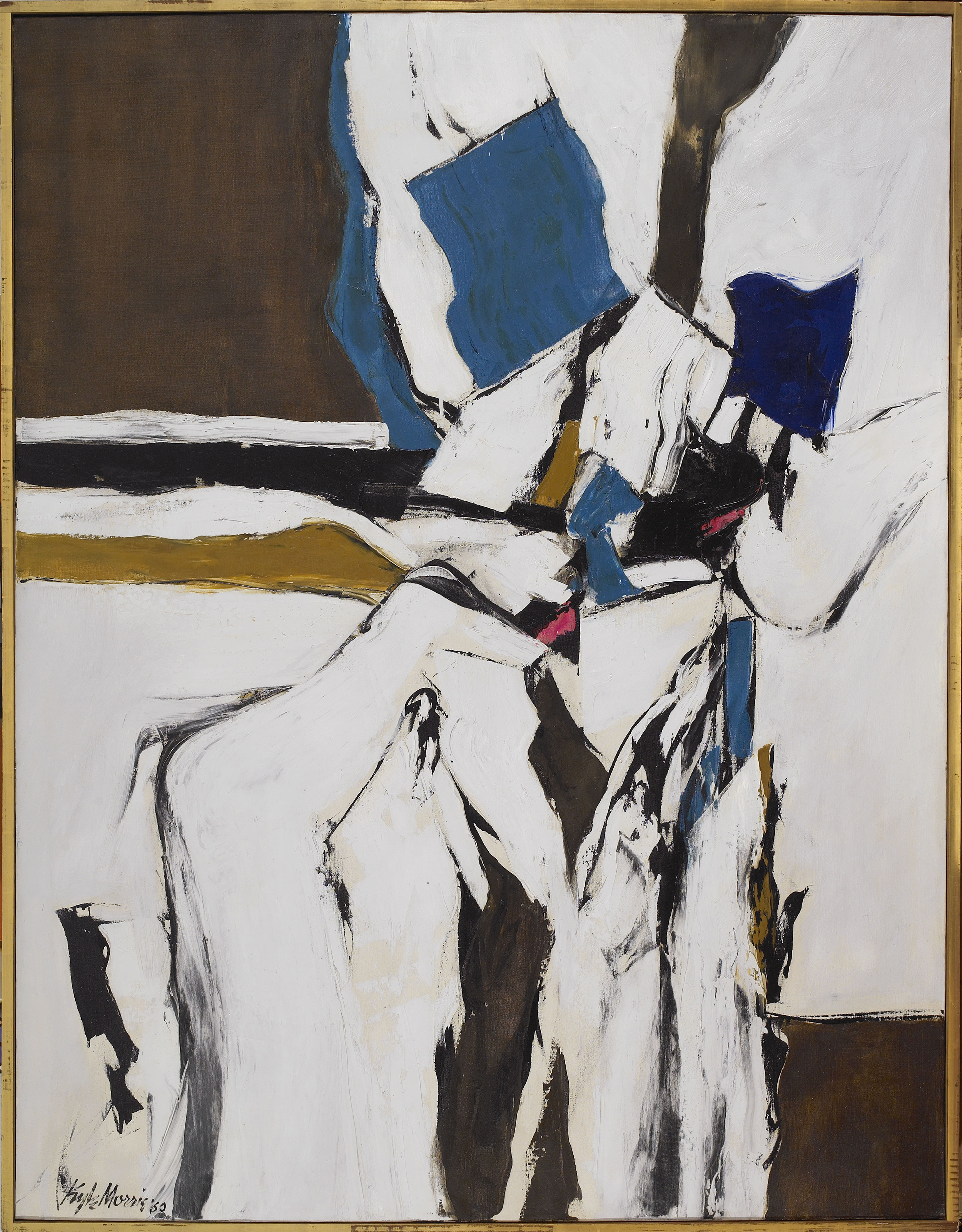 Untitled,   Oil on canvas, 1960, 62 1/2 x 48 inches