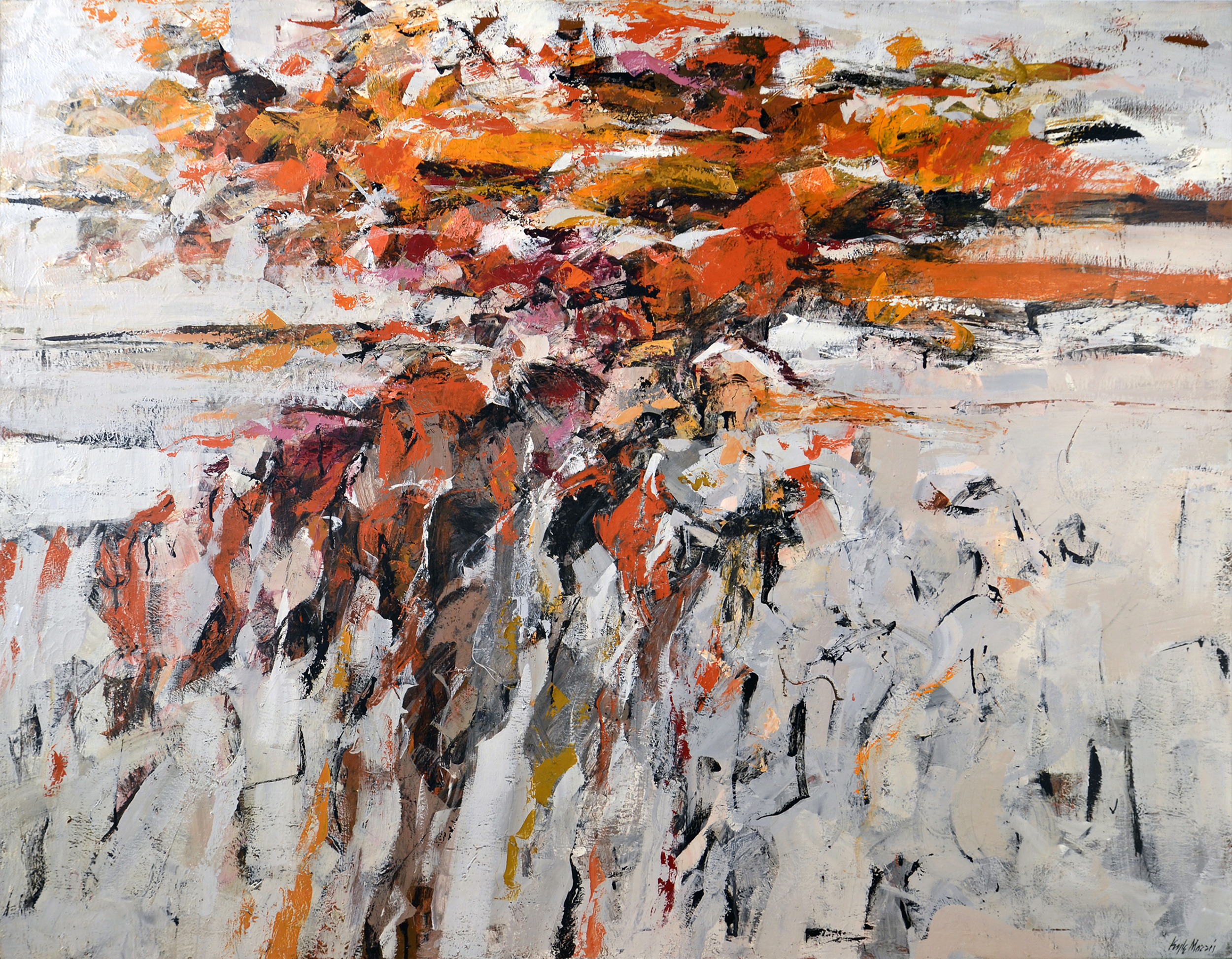 SOLD  Number 10,   Oil on canvas, 1956, 52 x 67 inches