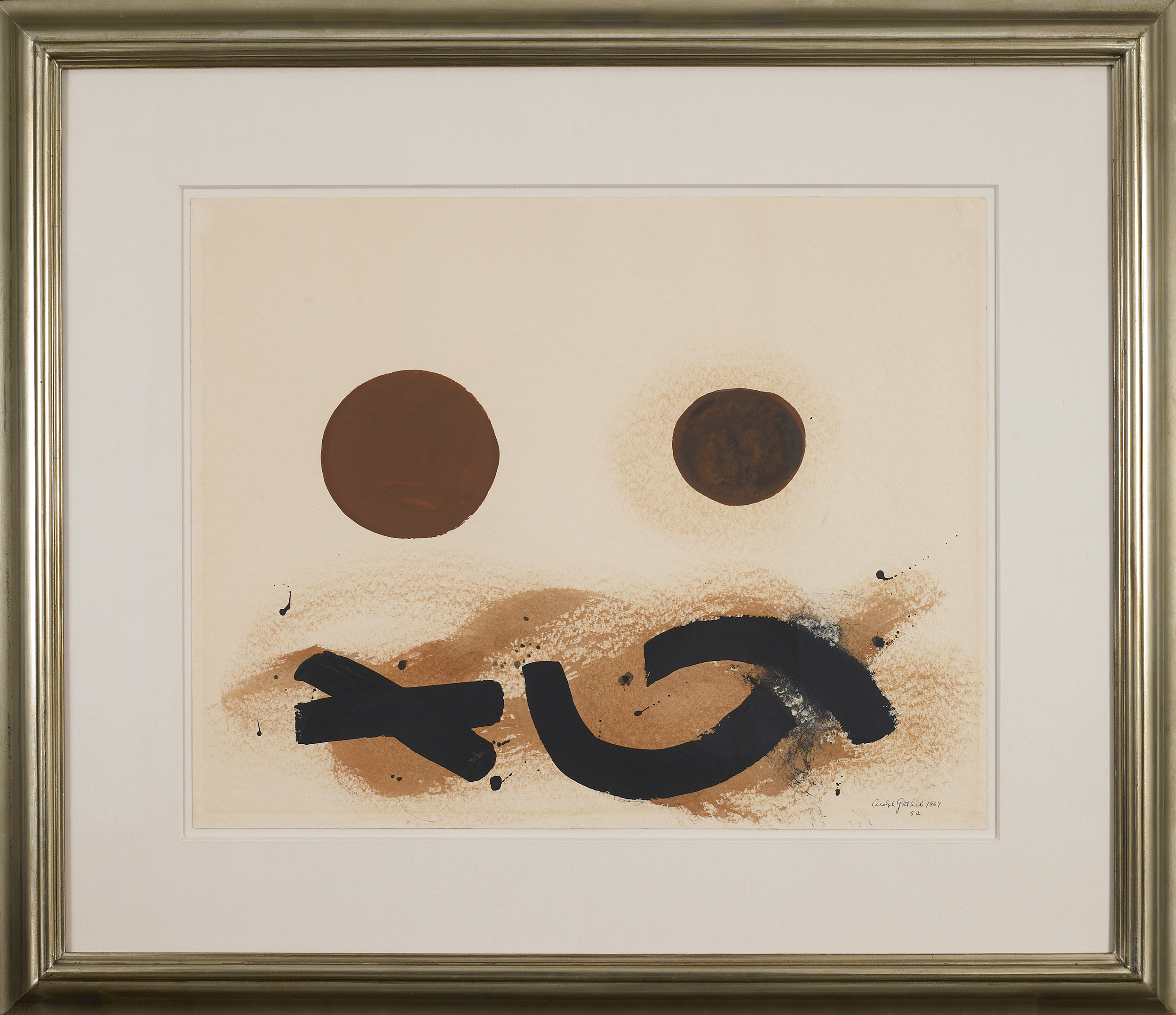 SOLD  52,   Acrylic on paper, 1967, 19 x 24 inches