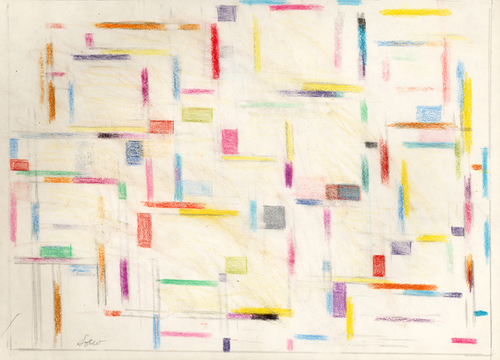 Color Form, No. 15,   Pastel on paper, 1957, 8 1/8 x 11 1/8 inches