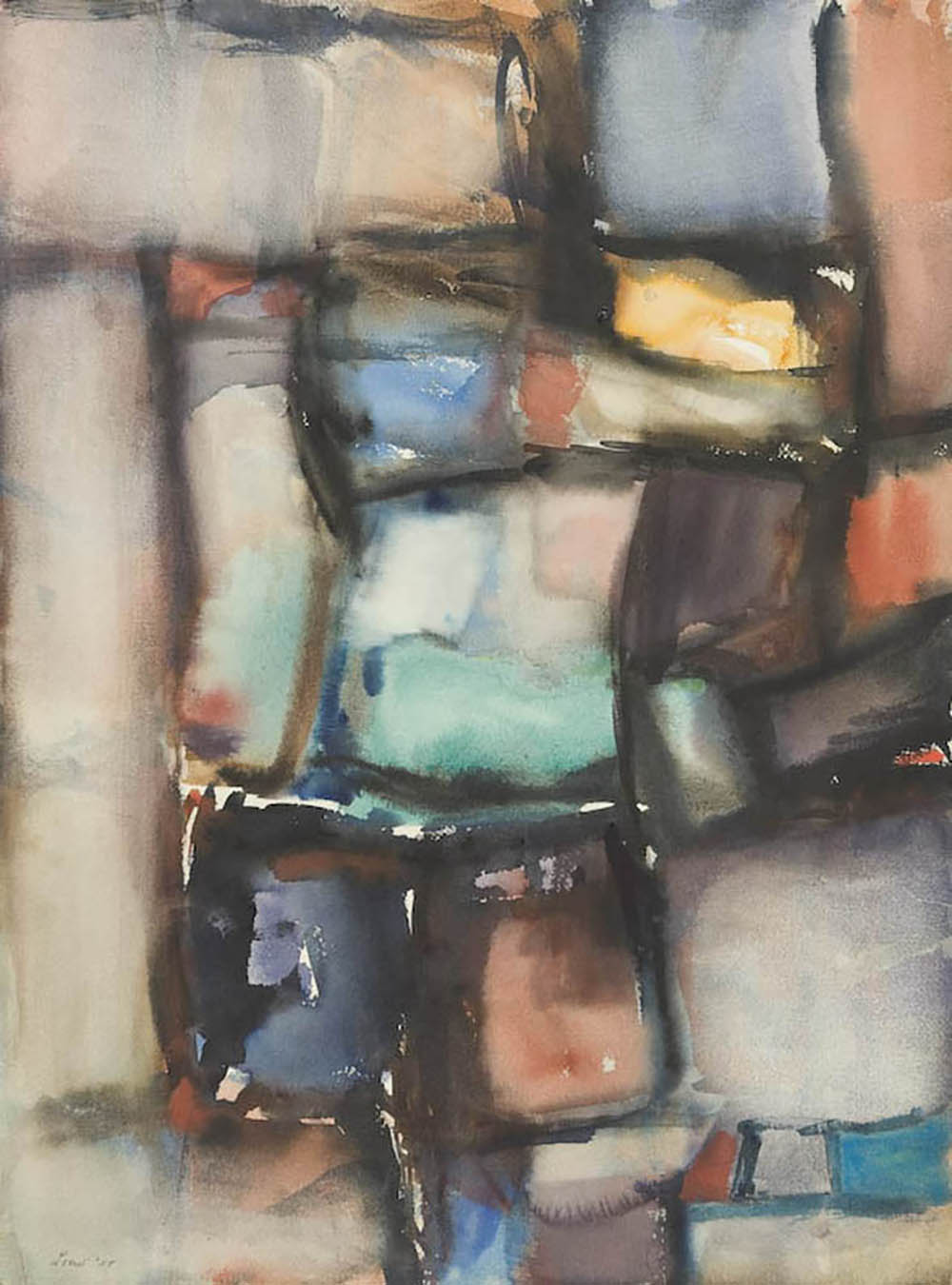 Untitled,   Watercolor on paper, 1959, 30 3/8 x 22 1/4 inches