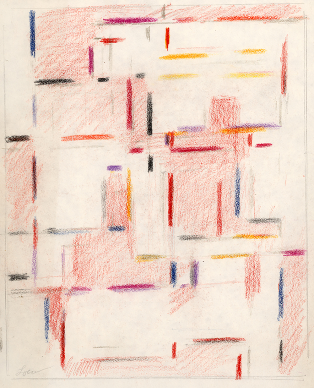 Color Form, No. 42,   Pastel on paper c. 1957, 8 7/8 x 7 1/4 inches