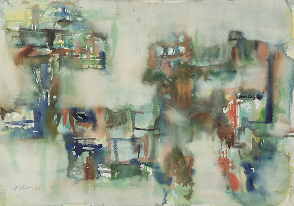 Untitled,   Watercolor on paper, 1959, 15 1/4 x 22 3/4 inches
