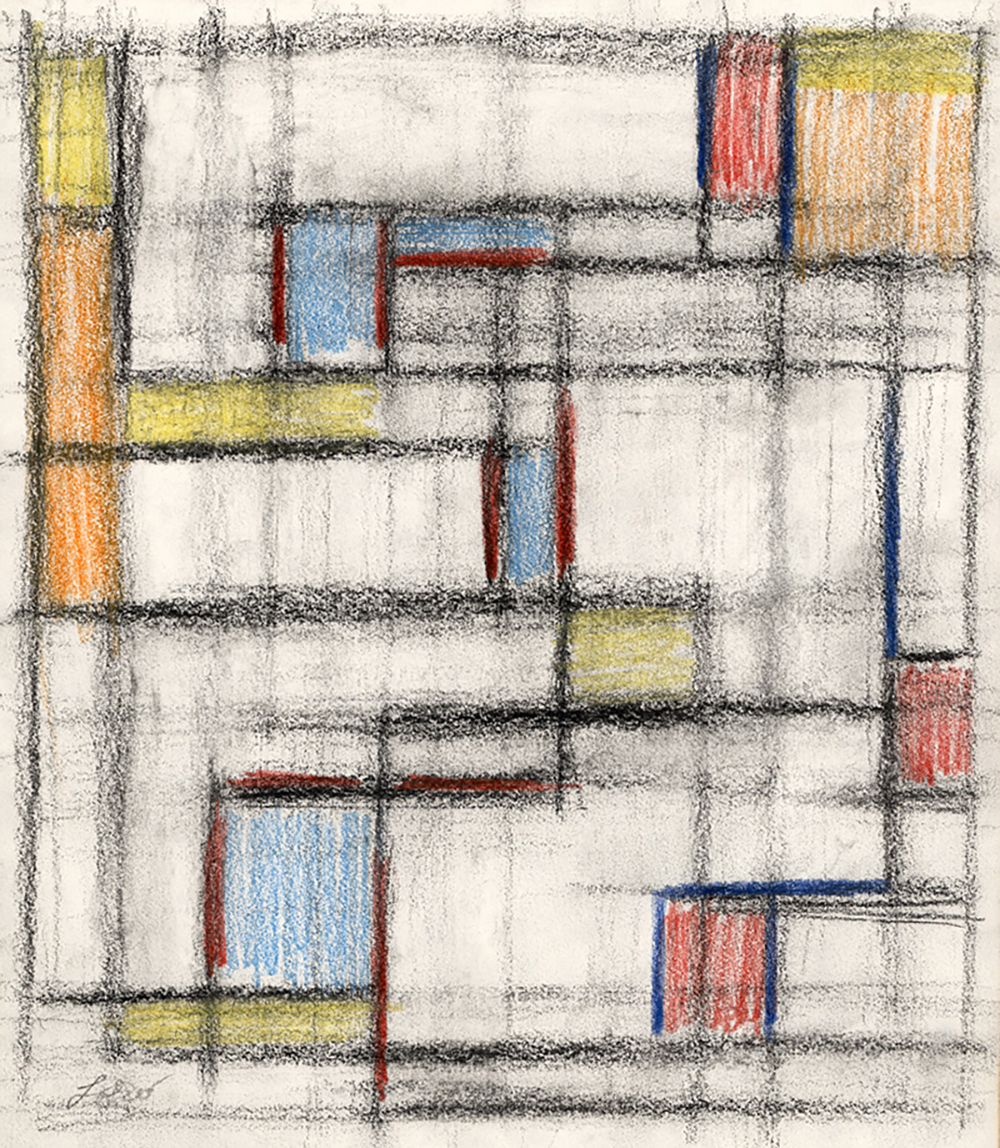 Color Form, No. 38  , Pastel on paper, c. 1957, 8 1/2 x 7 1/2 inches