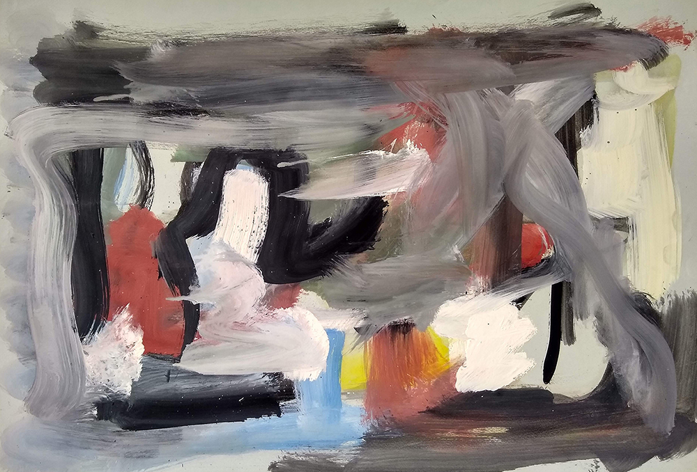 Untitled,   Acrylic on paper, c. 1950s, 16 x 23 inches